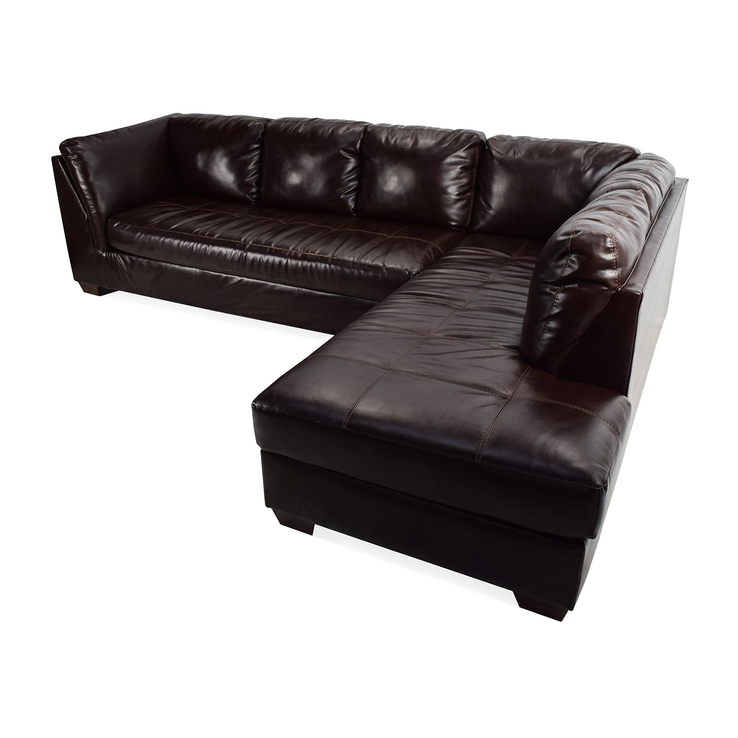 ... buy Jennifer Convertibles Jennifer Convertibles Brown Leather Sectional online ...  sc 1 st  Furnishare : jennifer leather sectional - Sectionals, Sofas & Couches