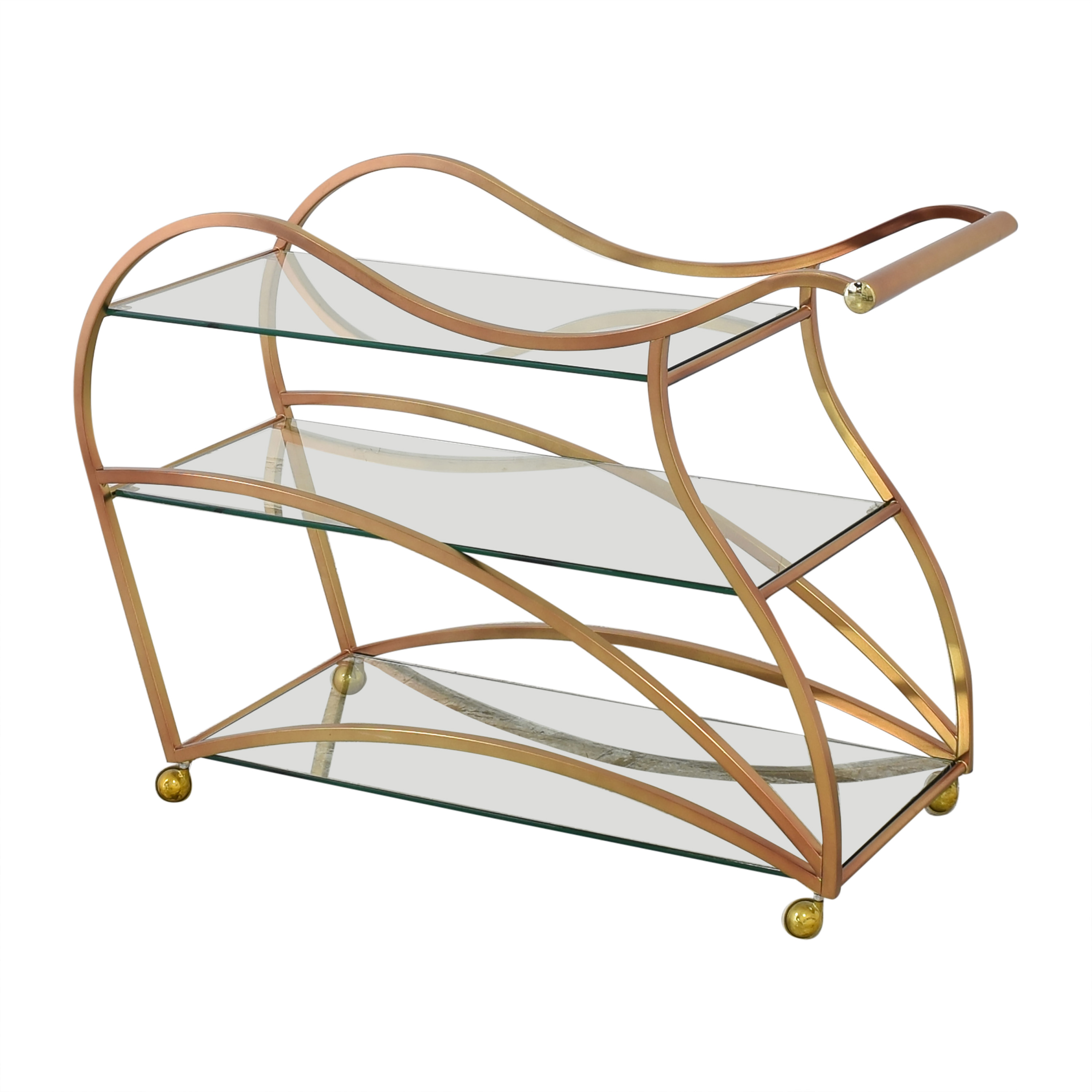 buy Wavy Brass Bar Cart  Utility Tables