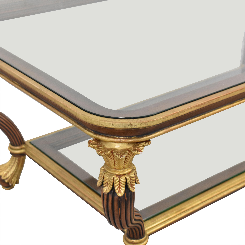 Gilt Coffee Table brown & gold