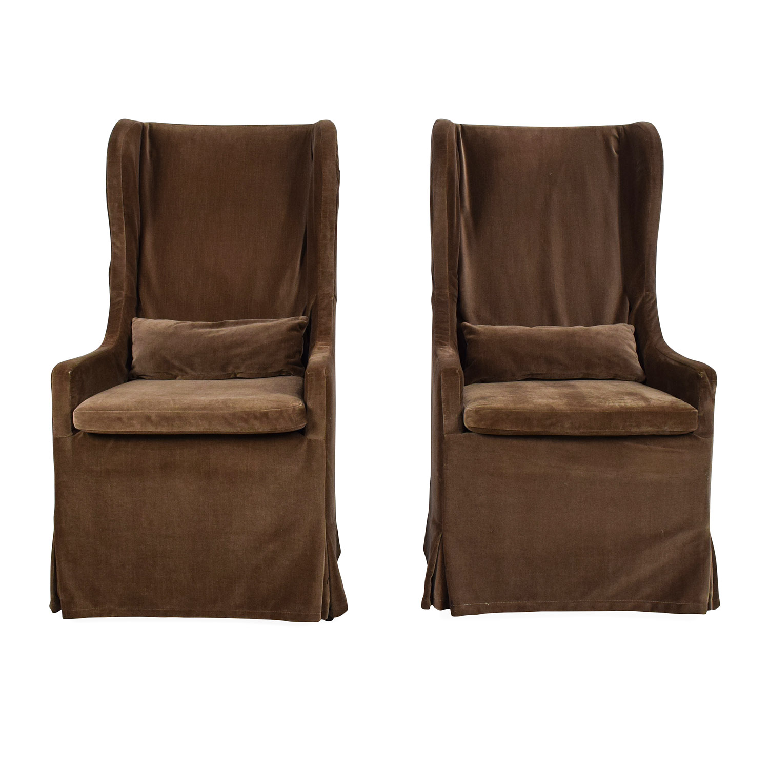 Restoration Hardware Restoration Hardware Belgian Wingback Chair Pair Accent Chairs