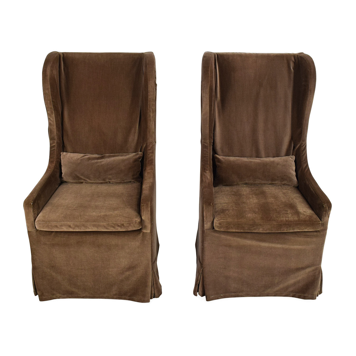 Restoration Hardware Restoration Hardware Belgian Wingback Chair Pair discount