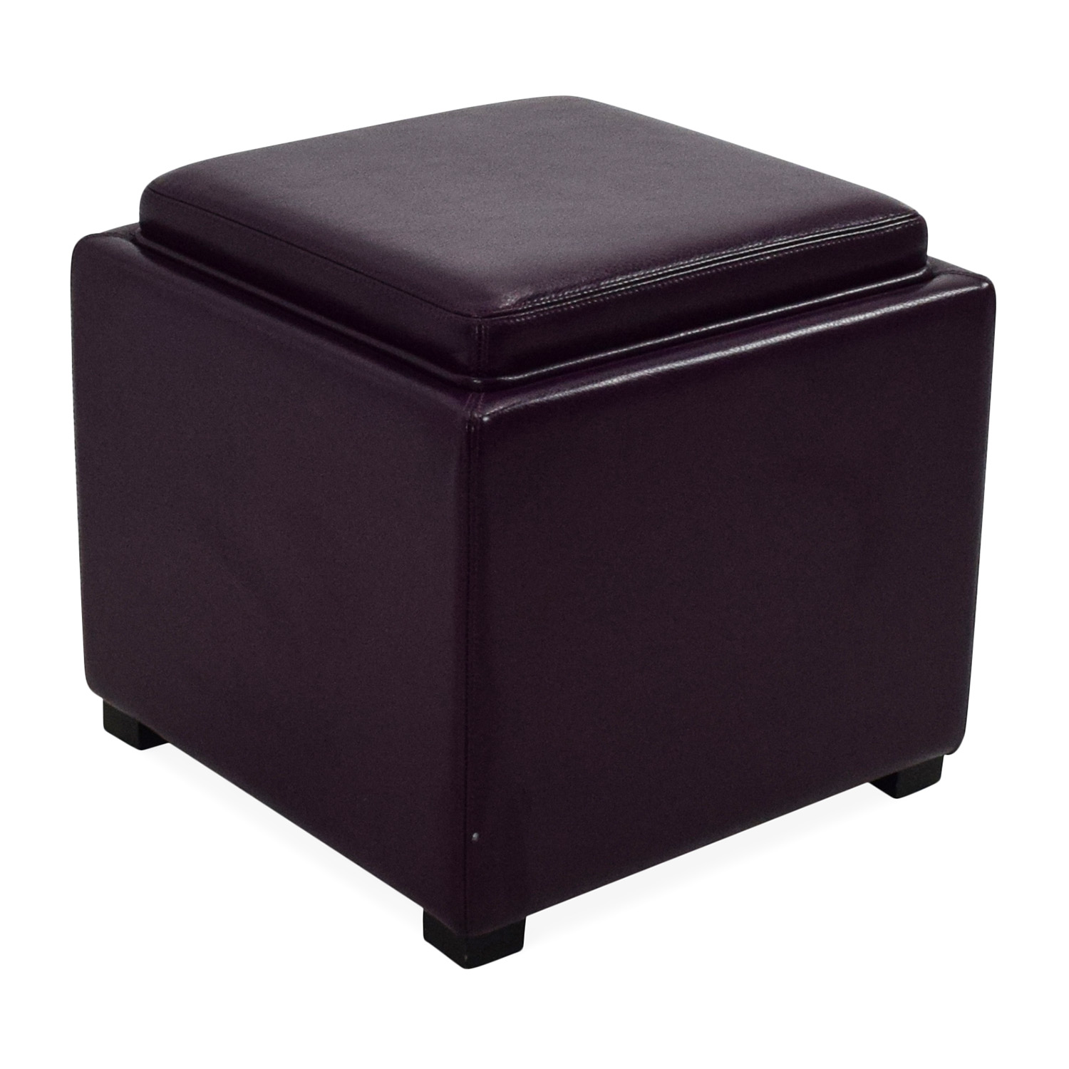 73 off crate and barrel crate barrel leather storage ottoman storage. Black Bedroom Furniture Sets. Home Design Ideas