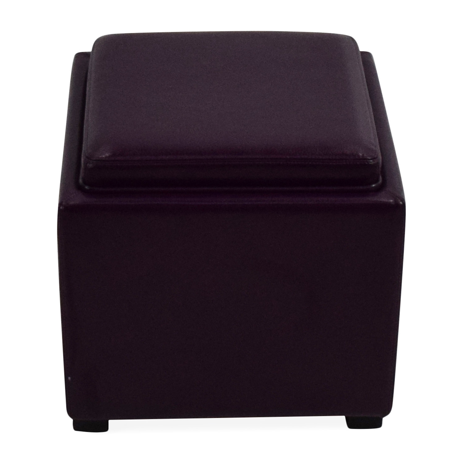 73 Off Crate Barrel Leather Storage Ottoman
