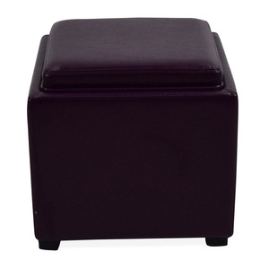 Crate & Barrel Leather Storage Ottoman Crate & Barrel