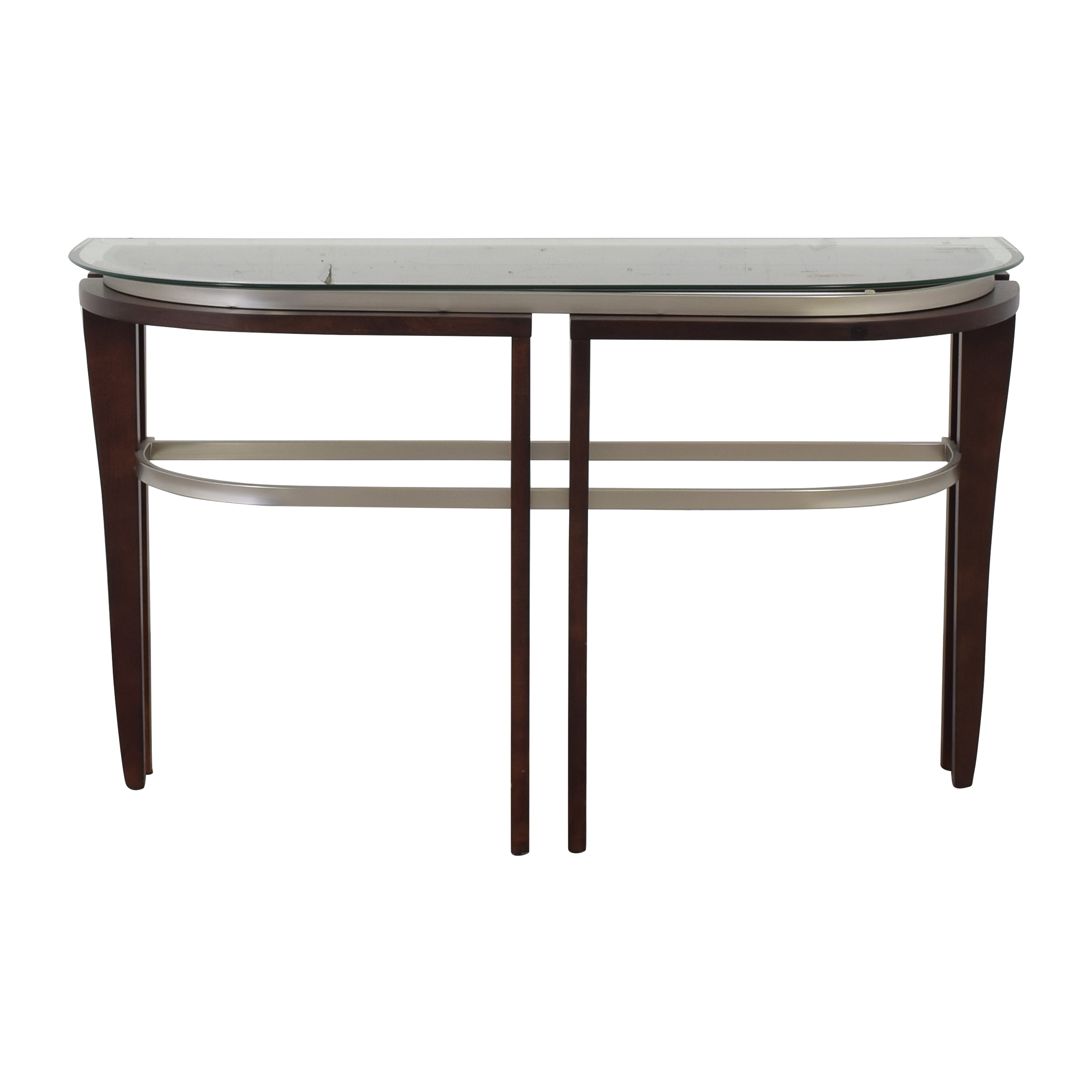 buy Glass Top Entry Table  Accent Tables