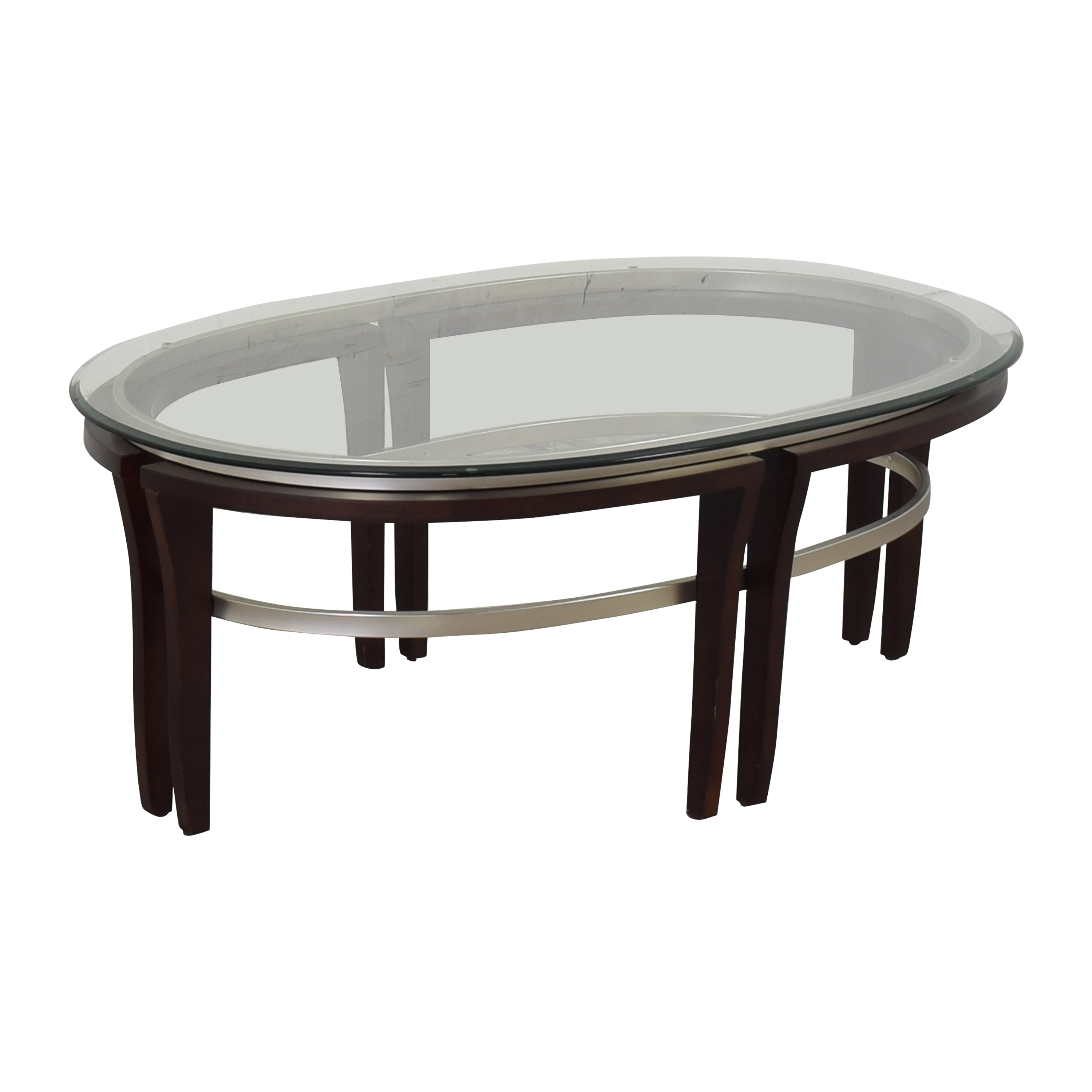 Glass Top Coffee Table / Tables