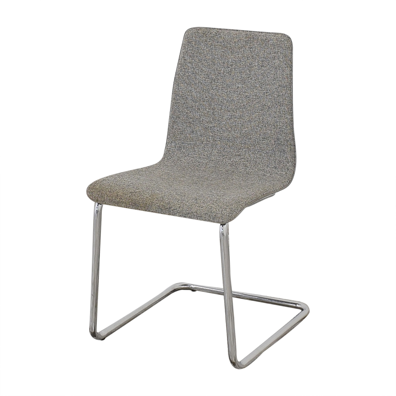 CB2 CB2 Pony Tweed Chairs Gray