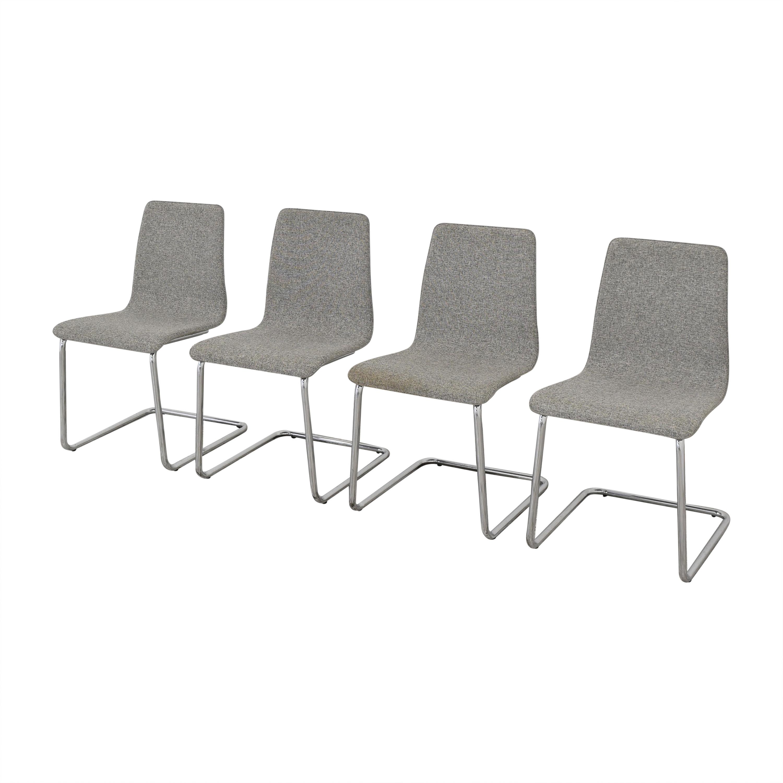 CB2 CB2 Pony Tweed Chairs nyc