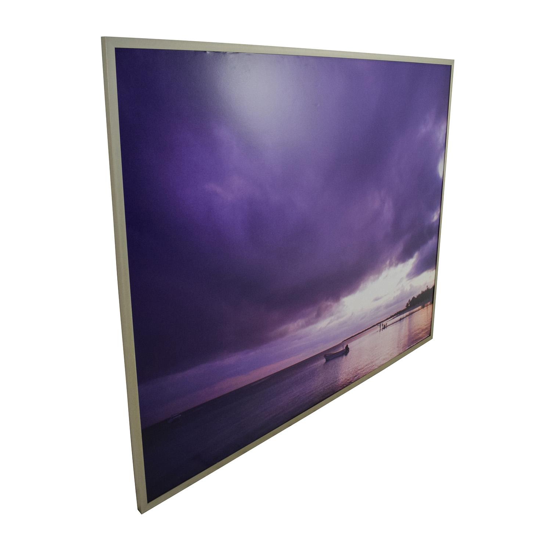 68 Off Z Gallerie Z Gallerie Purple Sky Picture Decor