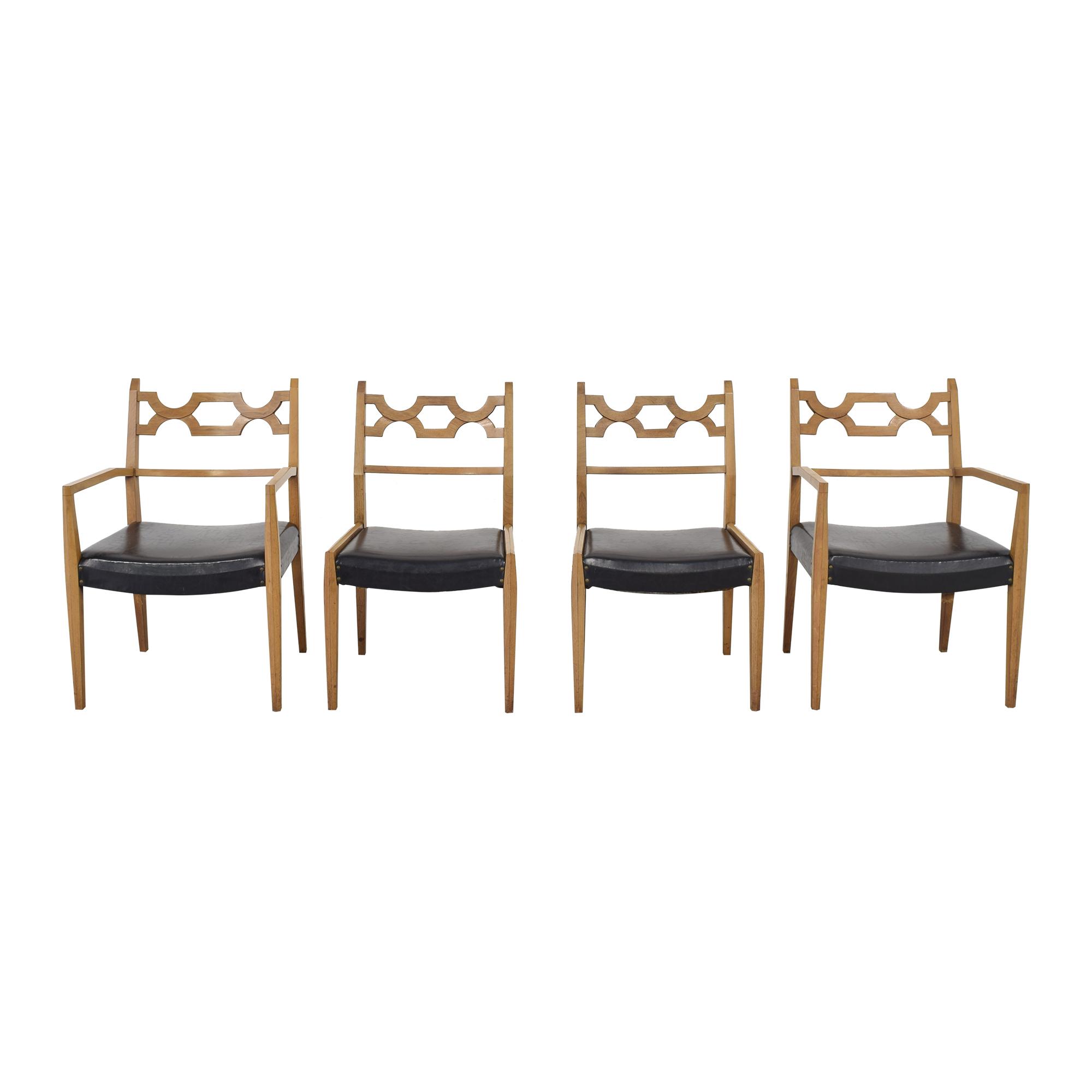John Stuart Inc. John Stuart Mid-Century Dining Chairs dimensions