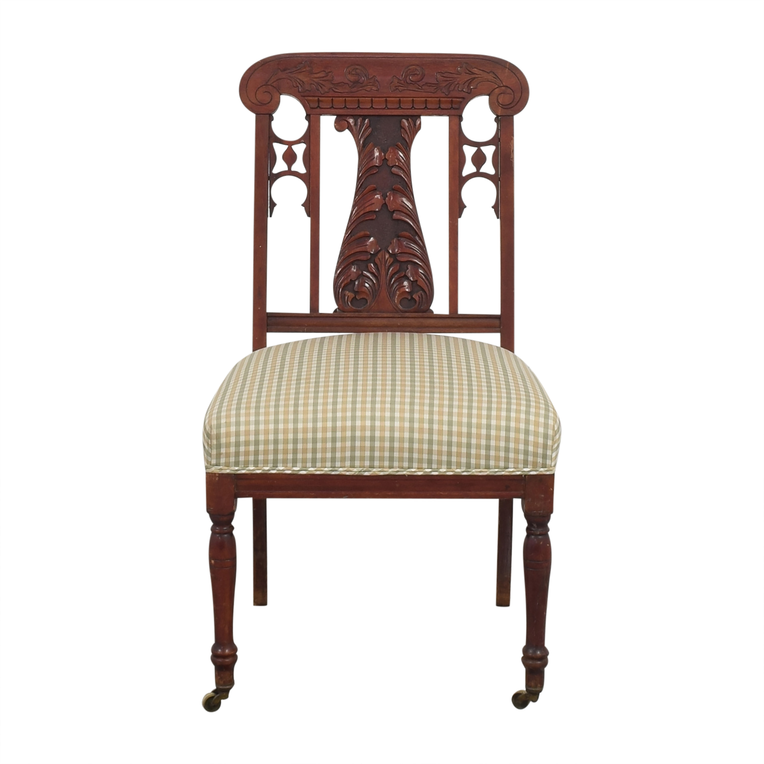 Vintage Upholstered Accent Chair second hand