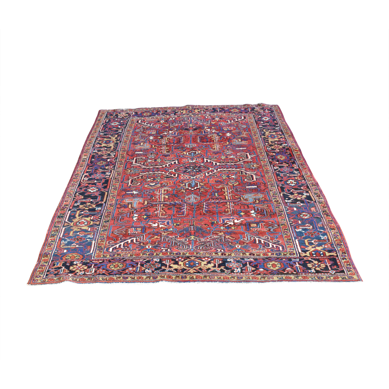 Vintage Heriz Persian Style Area Rug dimensions