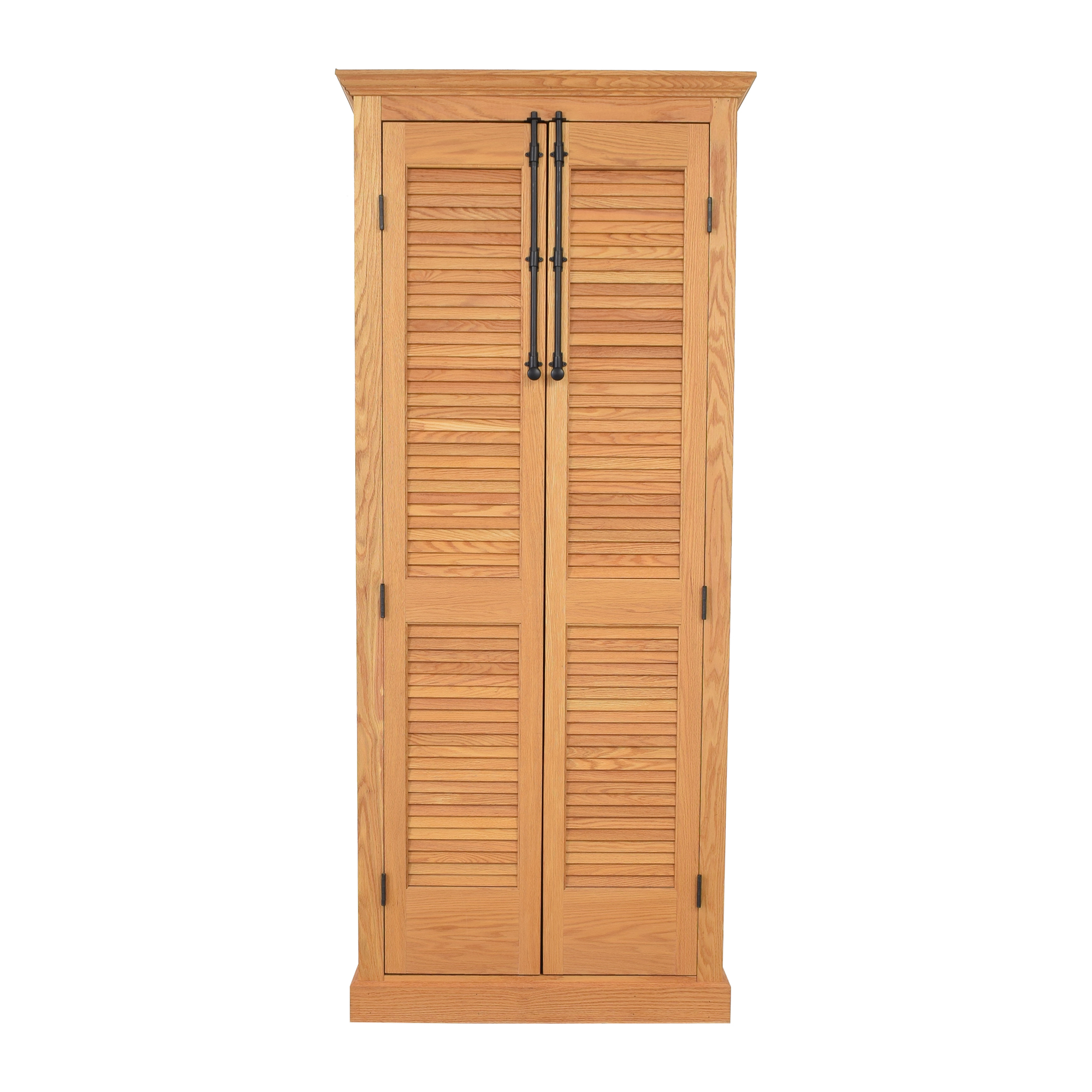 Custom Louvered Door Cabinet