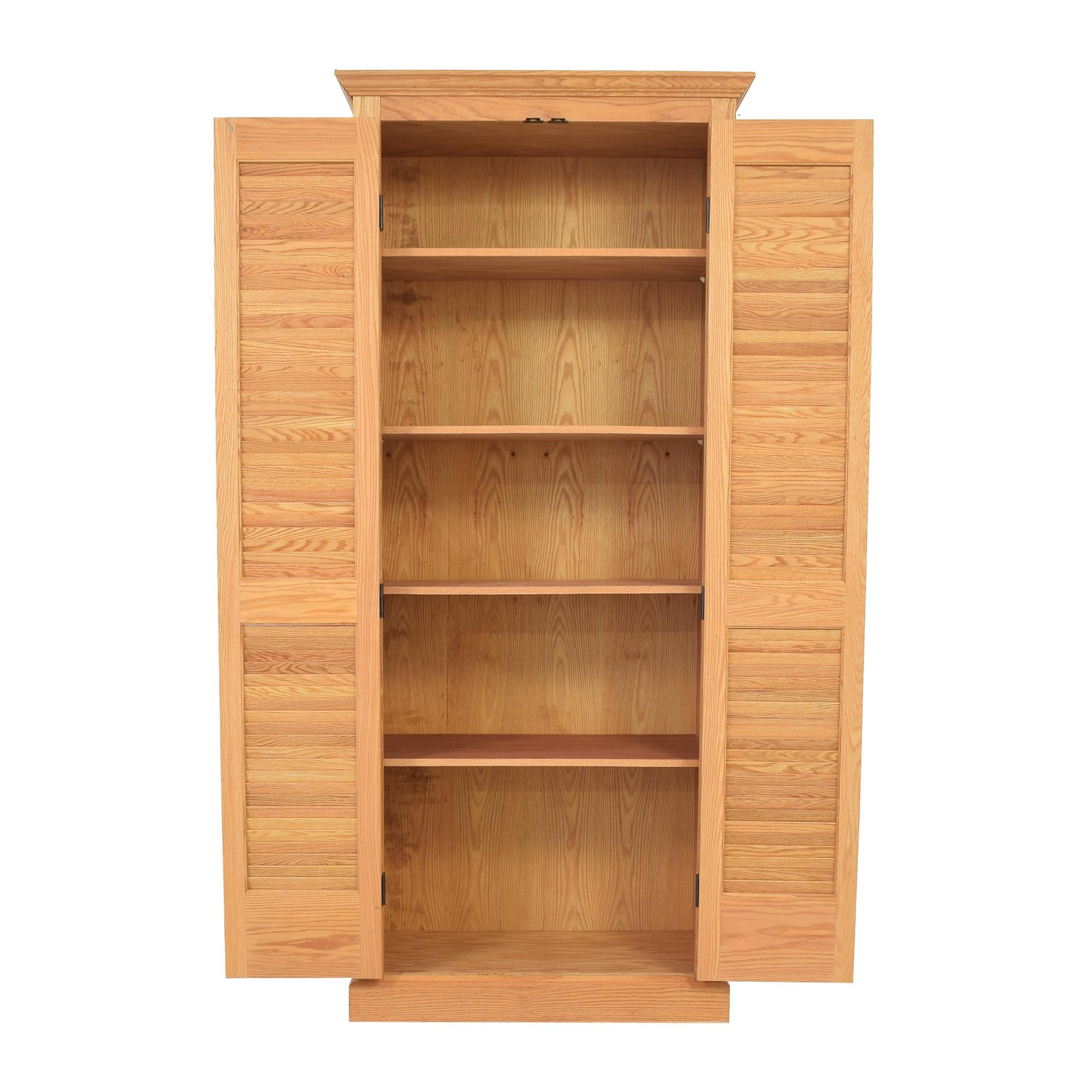 Custom Louvered Door Cabinet second hand