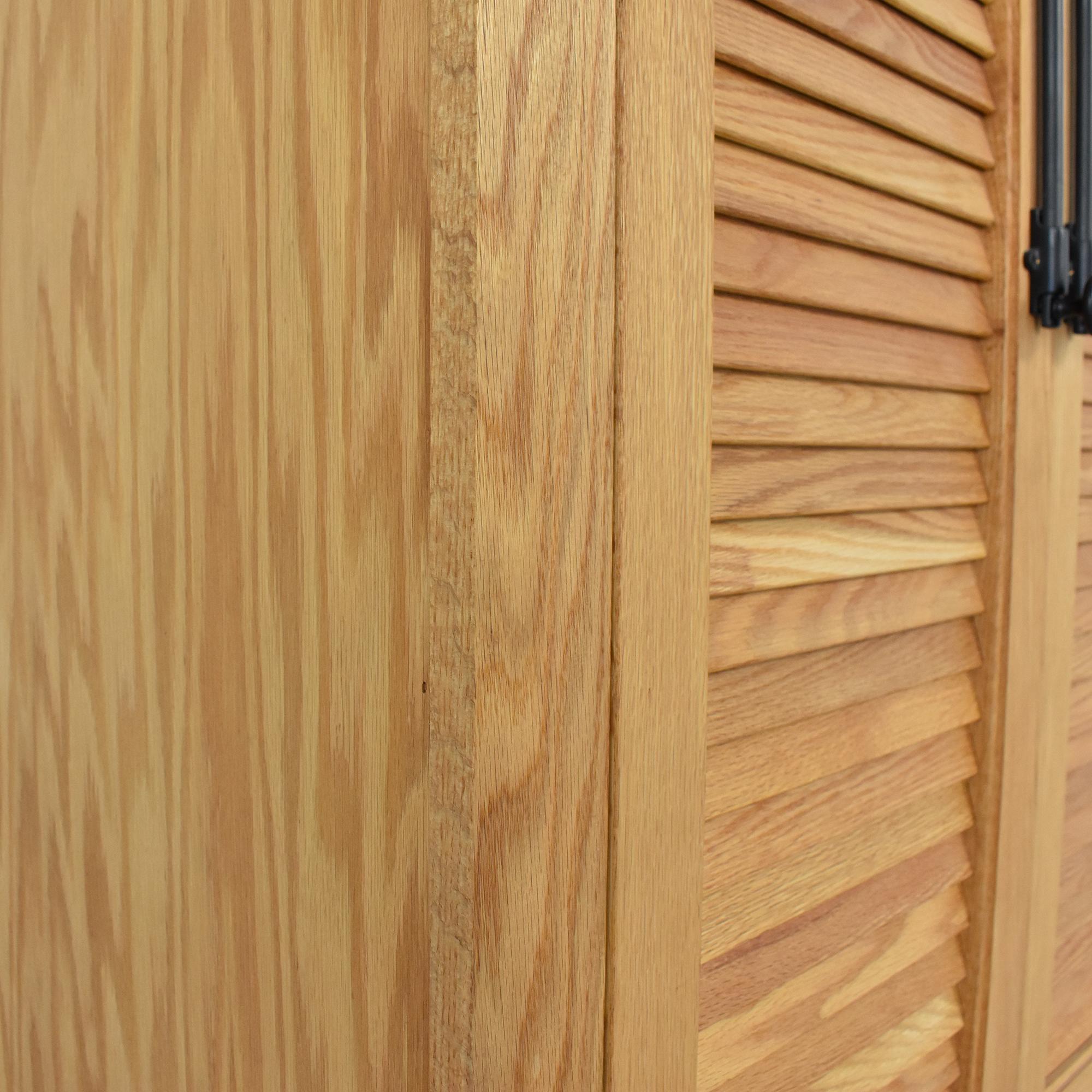 buy Custom Louvered Door Cabinet