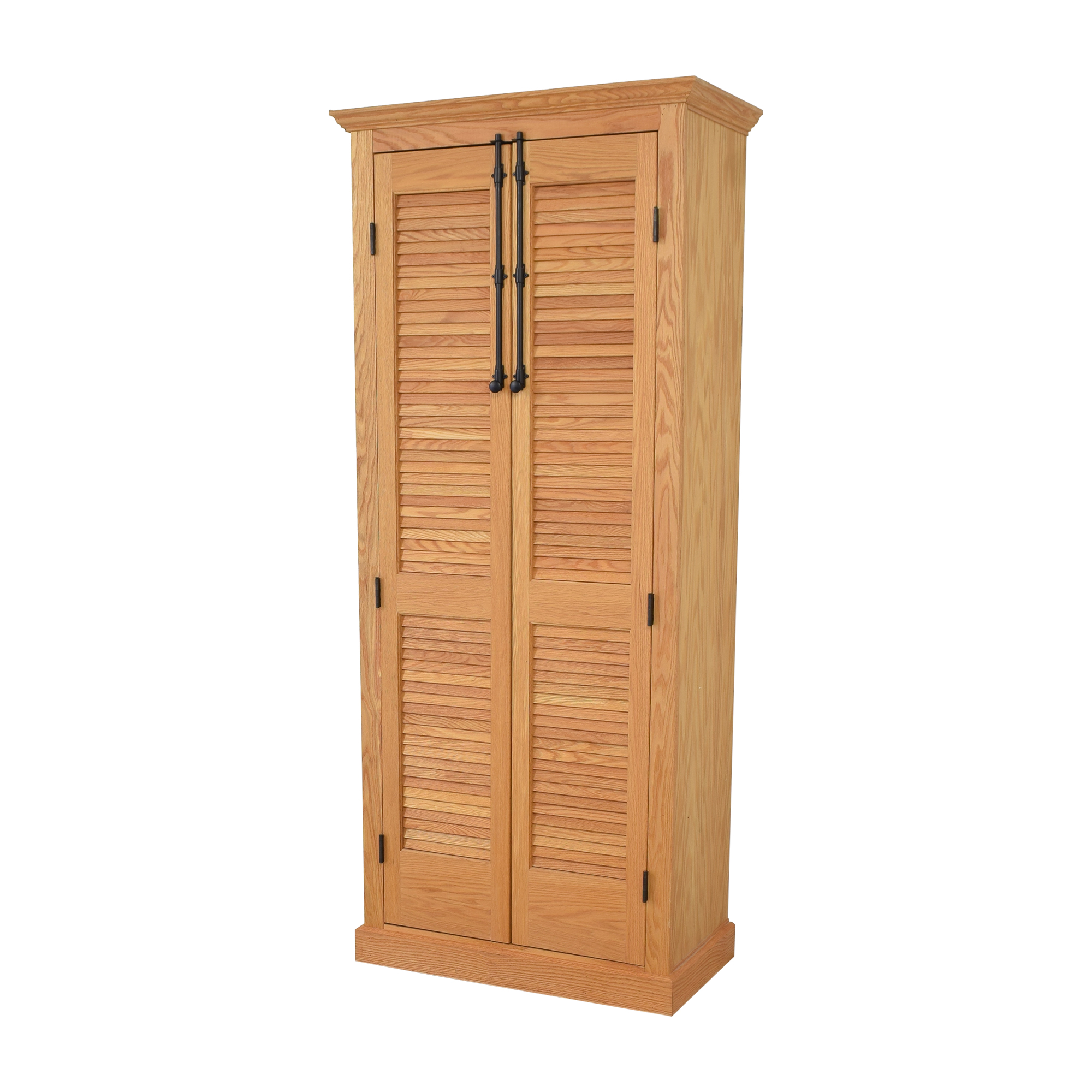 Custom Louvered Door Cabinet on sale
