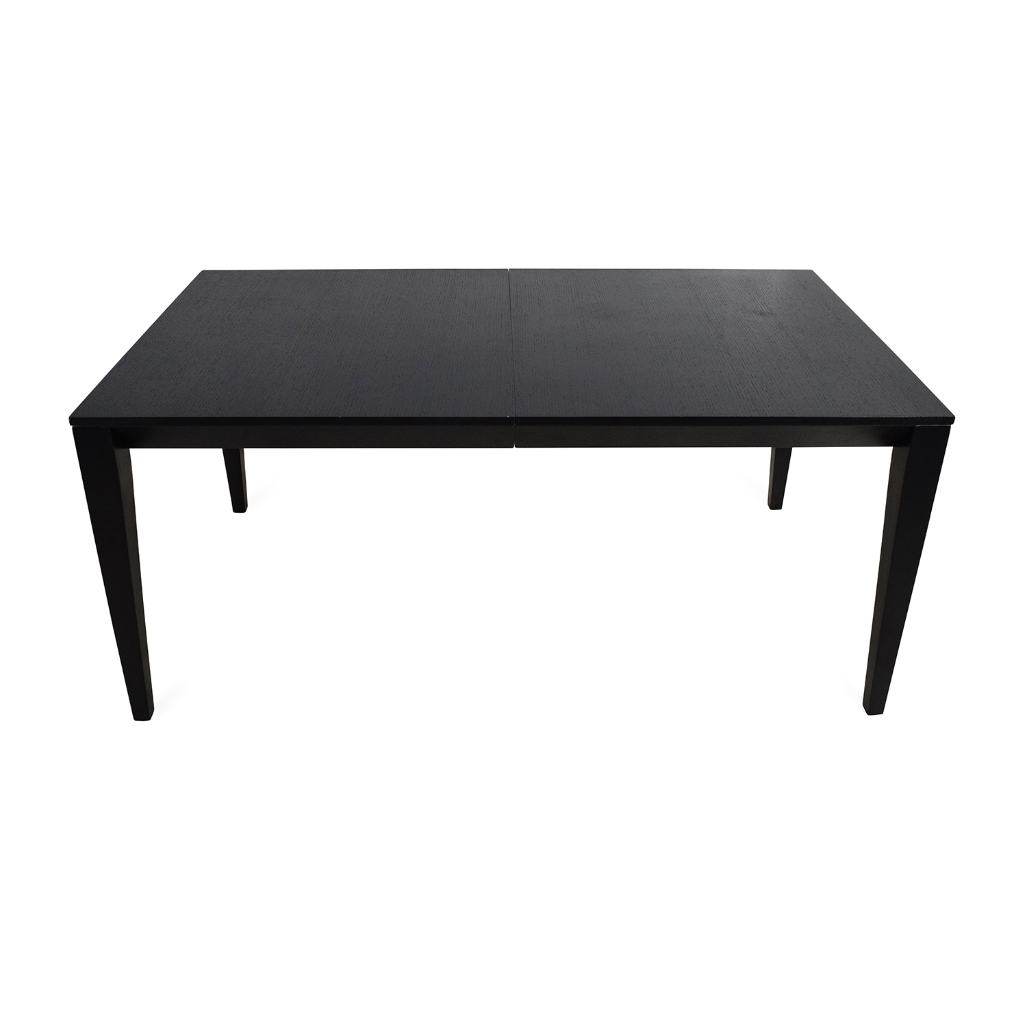 Crate and Barrel Crate & Barrel Black Extendable Dining Table used