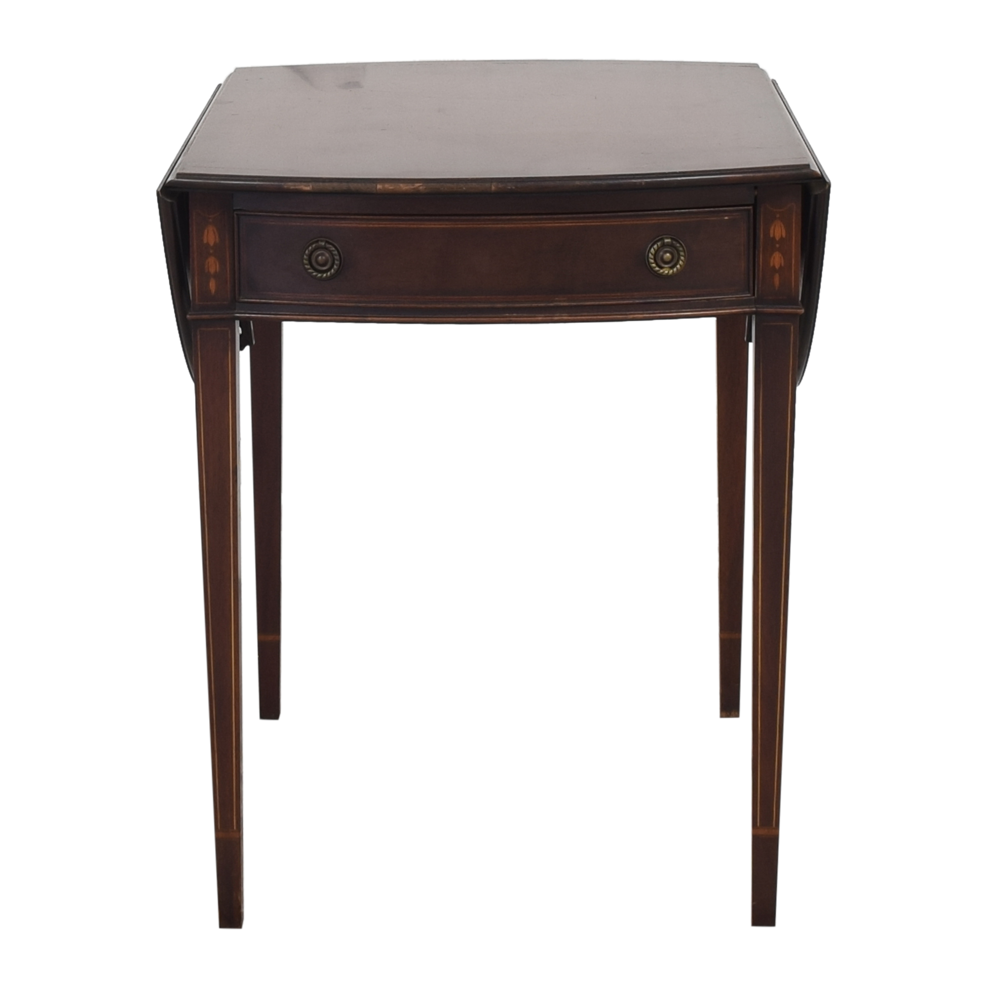 Mahogany Association Drop Leaf End Table End Tables