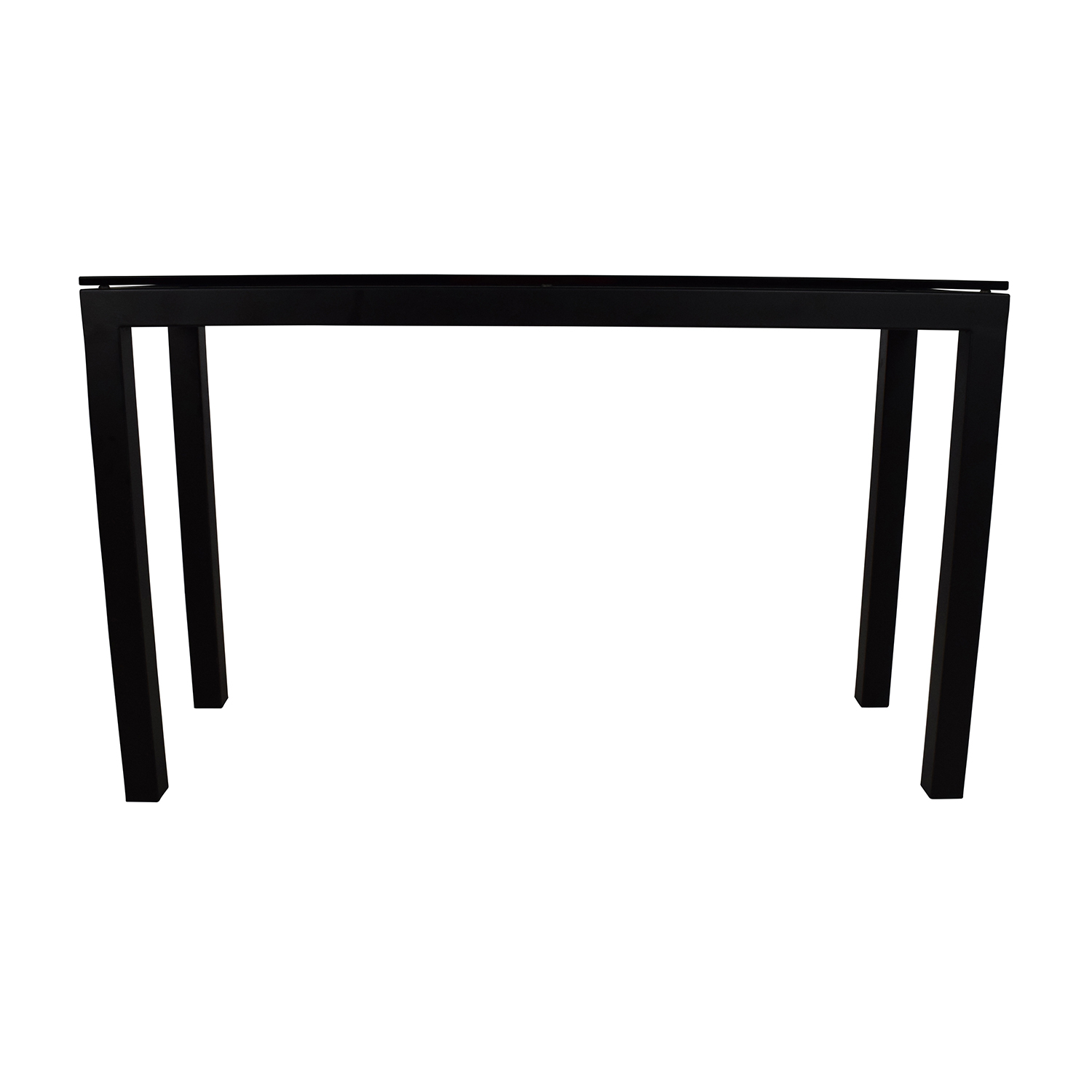 Crate and Barrel Crate & Barrel Parsons Console Table with Clear Glass Top for sale