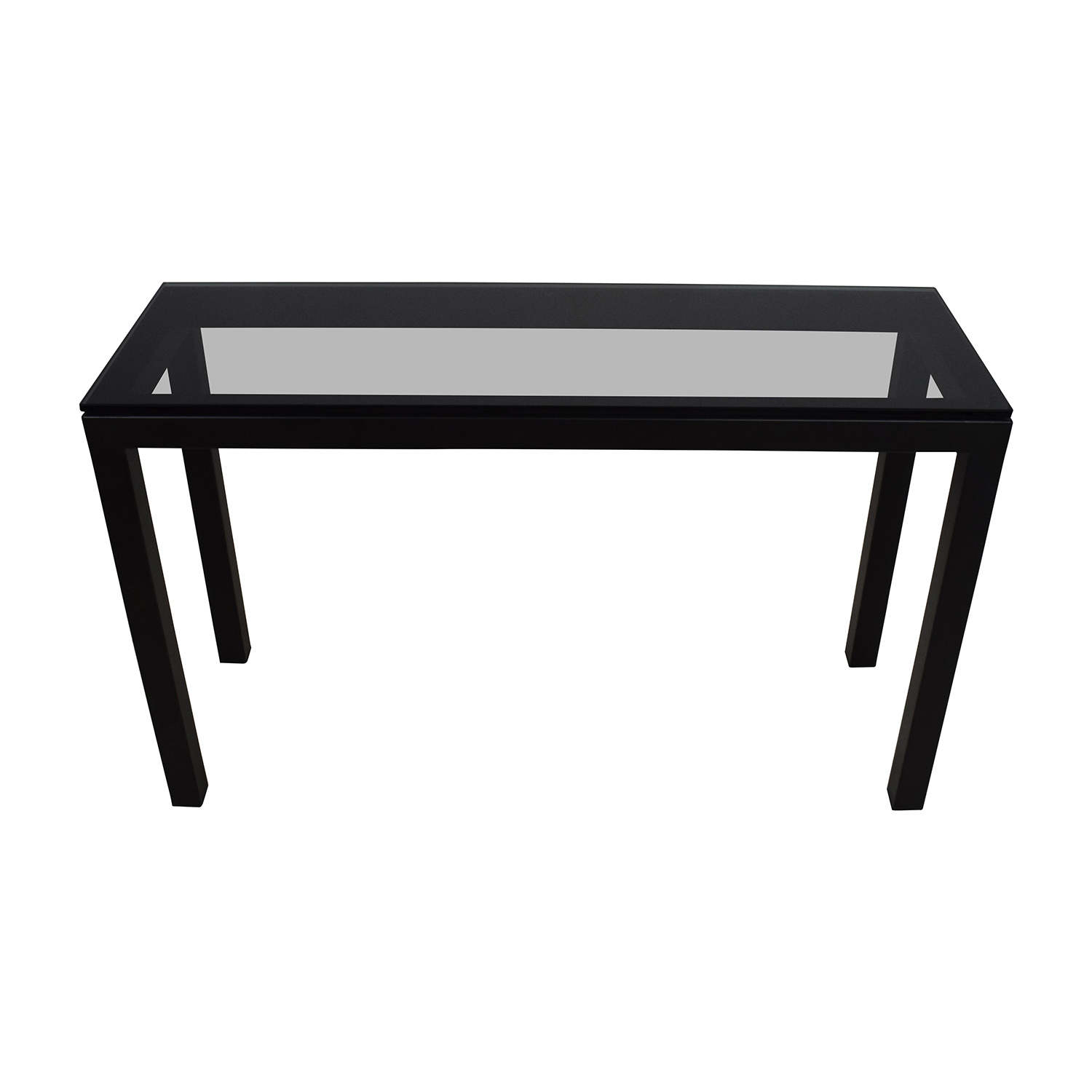 ... Crate U0026 Barrel Parsons Console Table With Clear Glass Top ...
