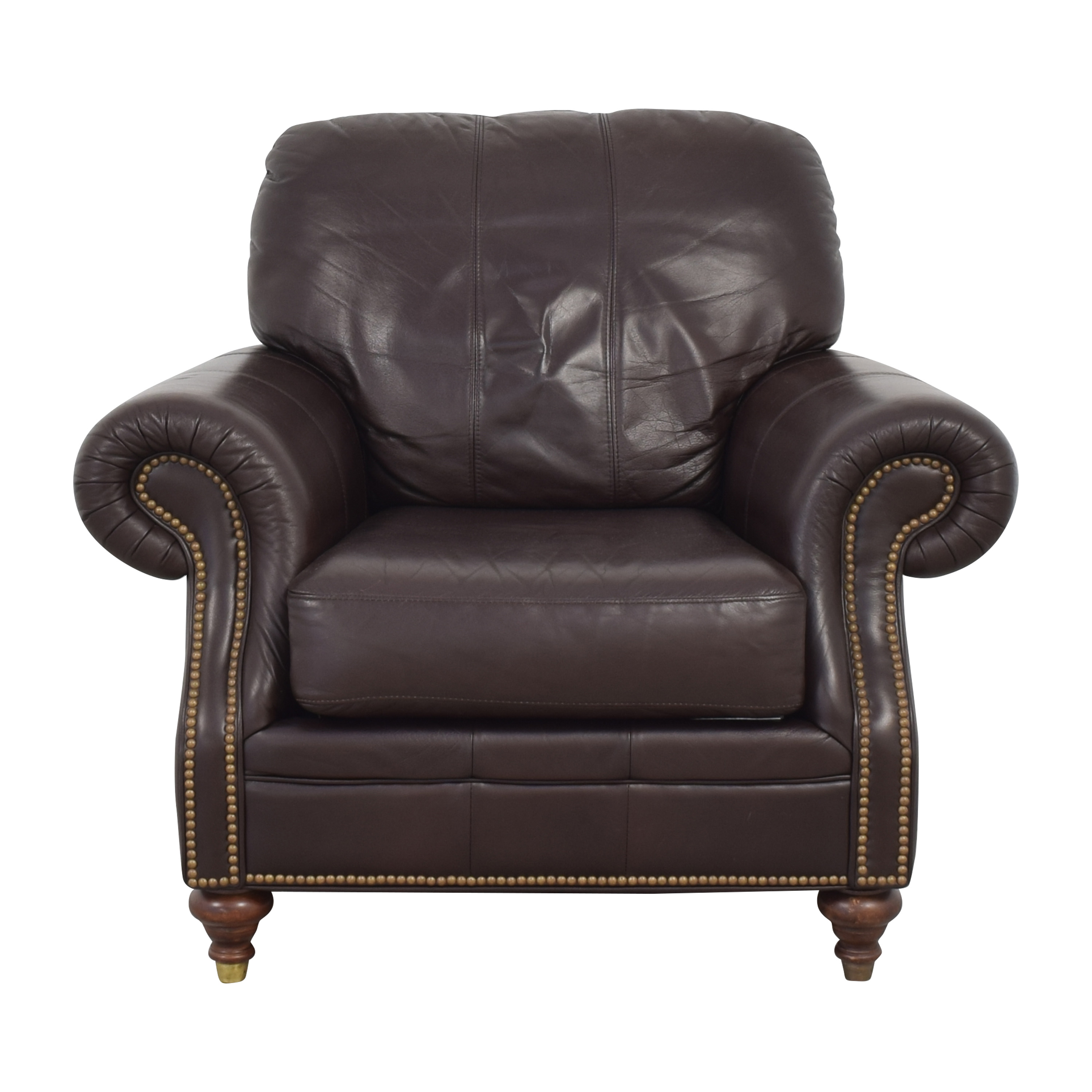 Ethan Allen Ethan Allen Bennett Roll-Arm Leather Chair with ottoman coupon