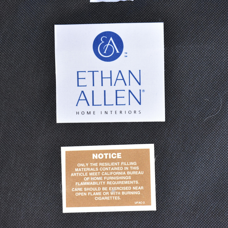 Ethan Allen Bennett Roll-Arm Leather Chair with ottoman Ethan Allen