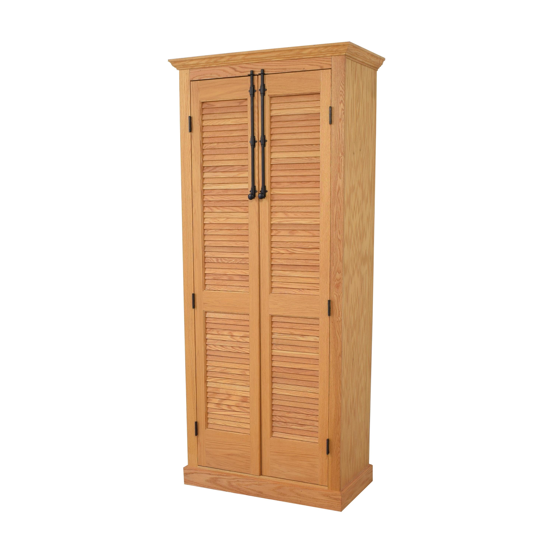 shop Custom Louvered Door Cabinet