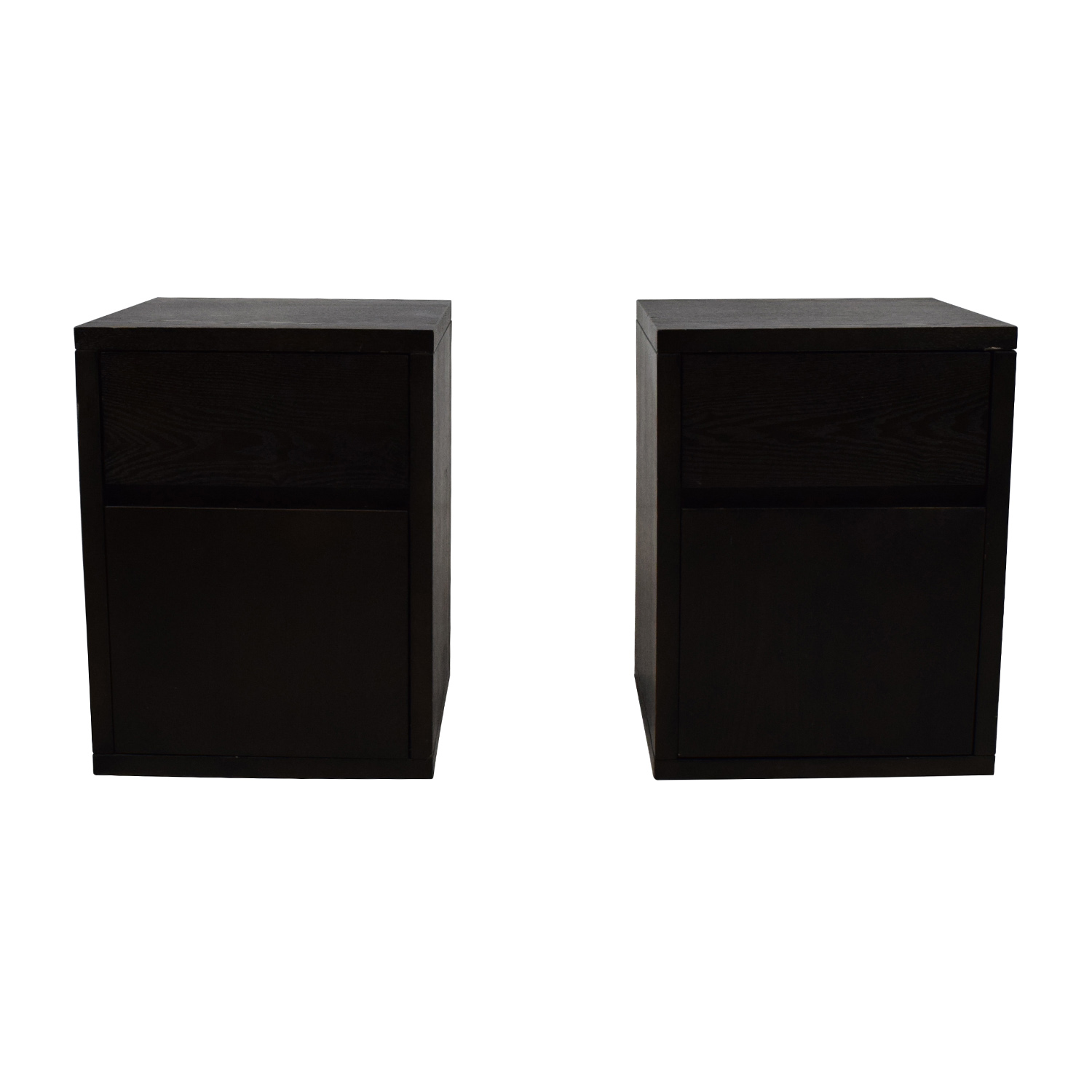 West Elm West Elm Solid Wood Nightstand Pair for sale