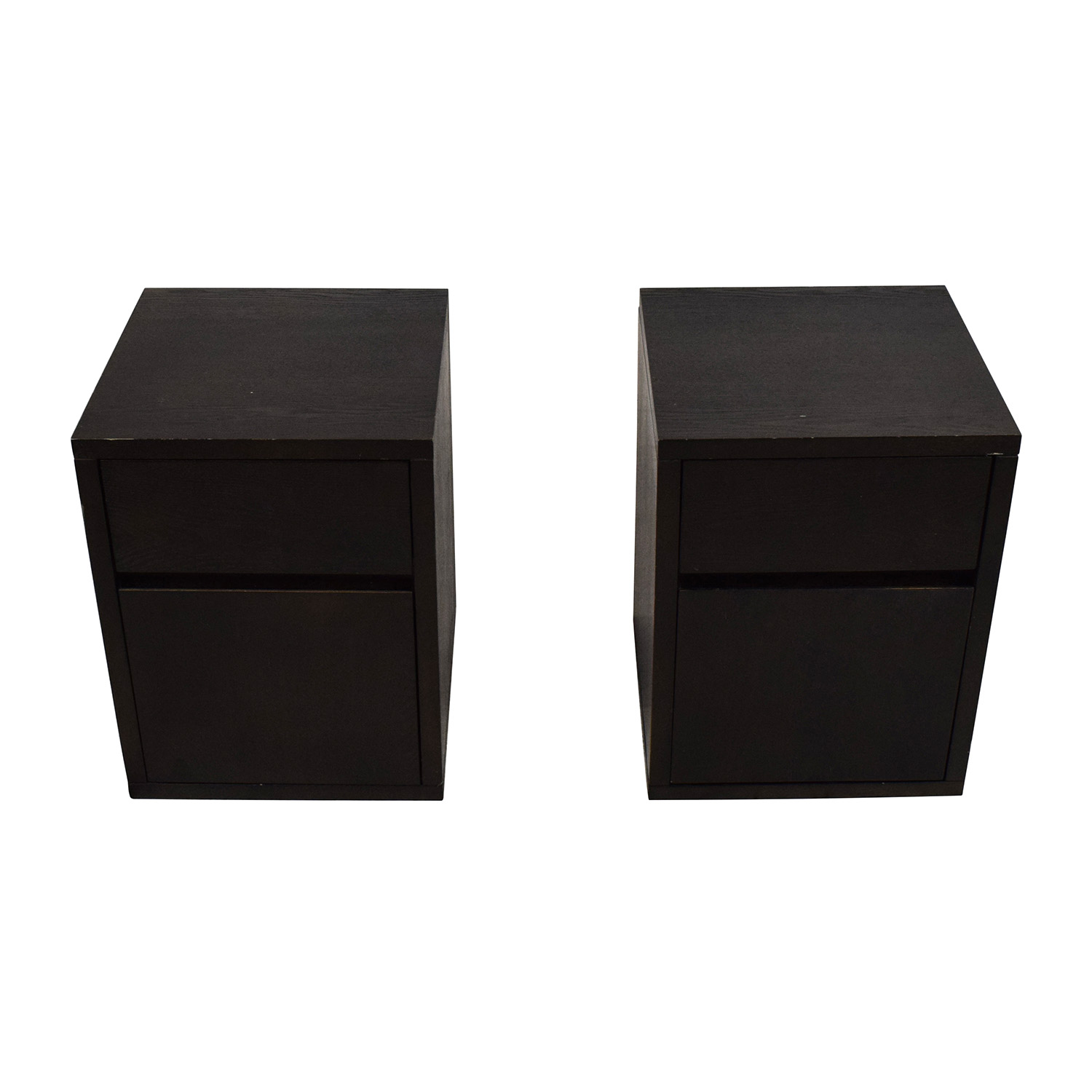 shop West Elm Solid Wood Nightstand Pair West Elm End Tables