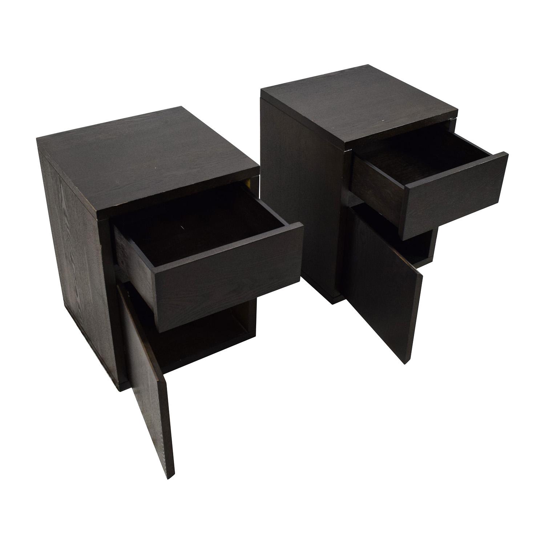 69 off west elm west elm solid wood nightstand pair. Black Bedroom Furniture Sets. Home Design Ideas
