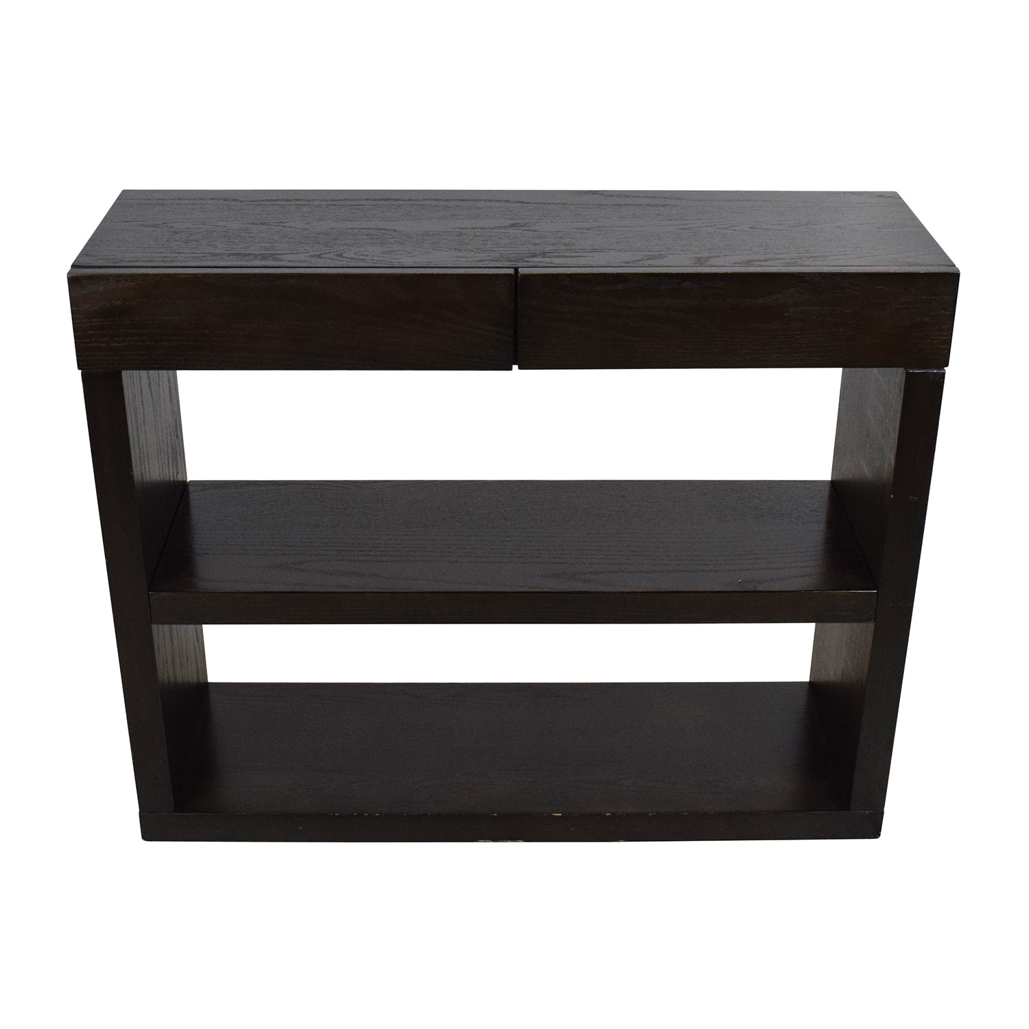 West Elm West Elm Dark Wooden Console on sale