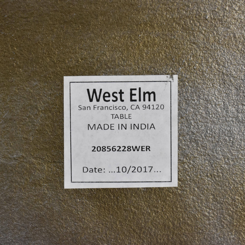 West Elm West Elm Two-Tone End Tables dimensions