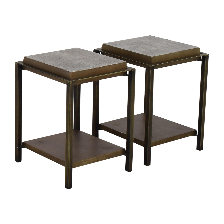 West Elm West Elm Two-Tone End Tables
