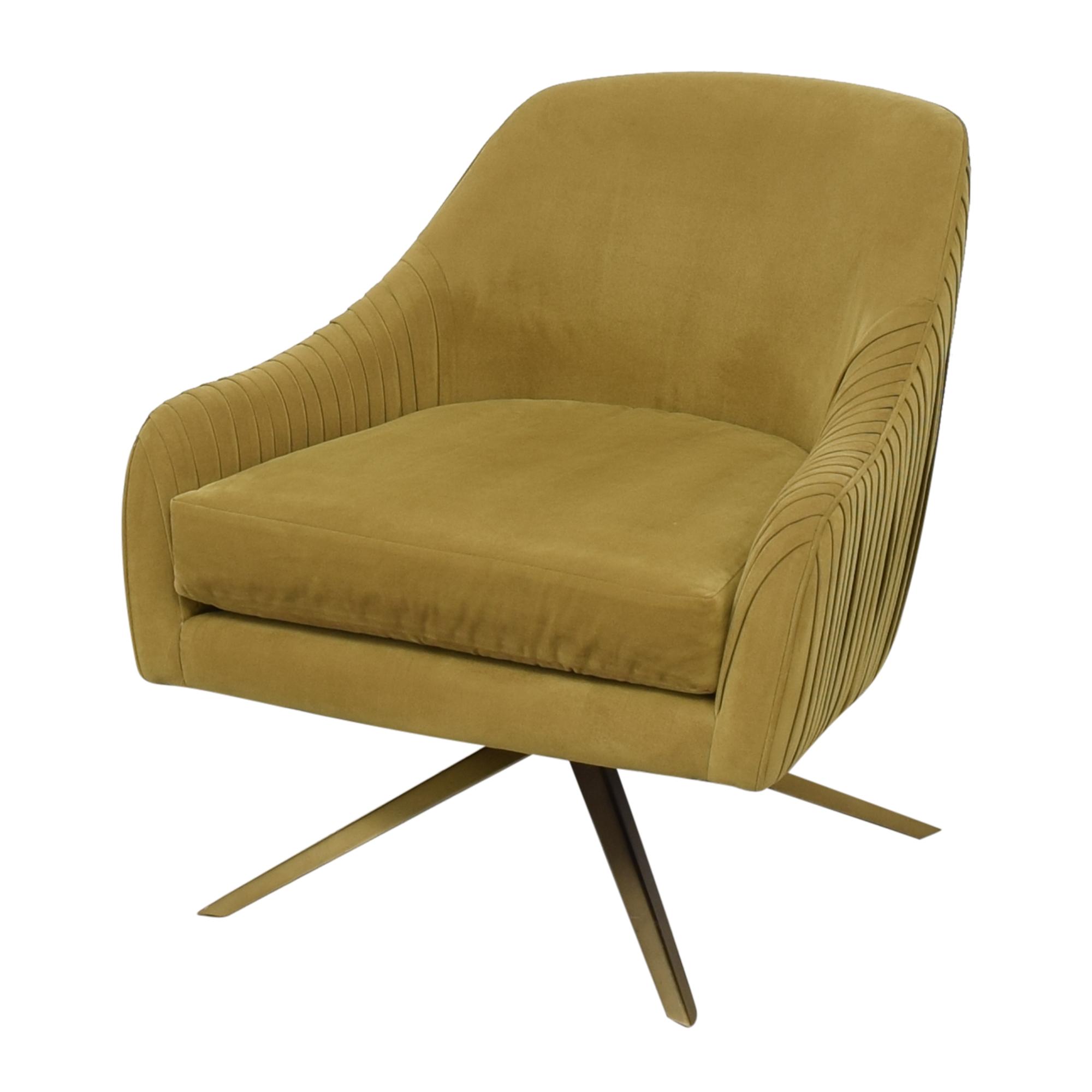 West Elm West Elm Roar & Rabbit Pleated Swivel Chair Chairs