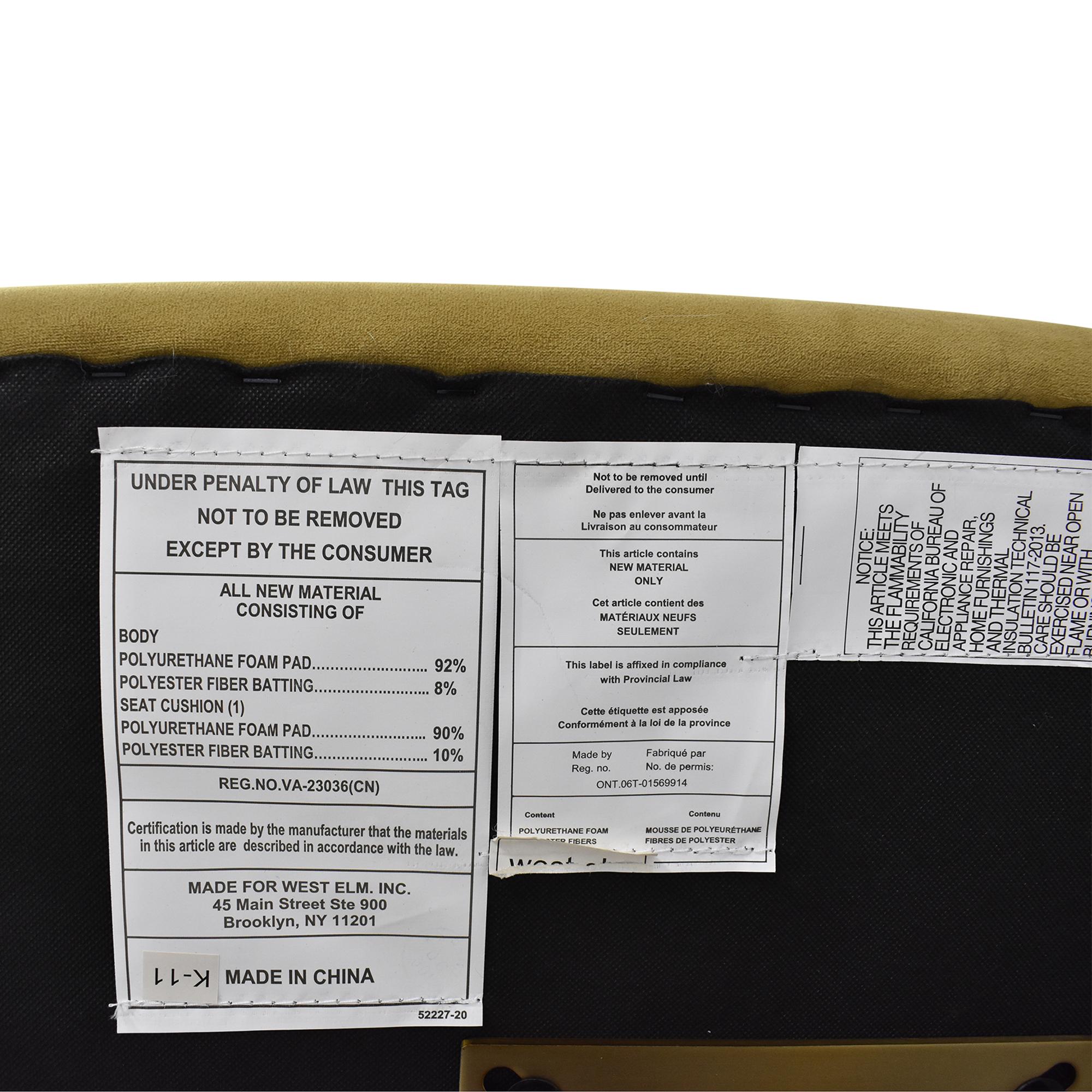 West Elm West Elm Roar & Rabbit Pleated Swivel Chair green