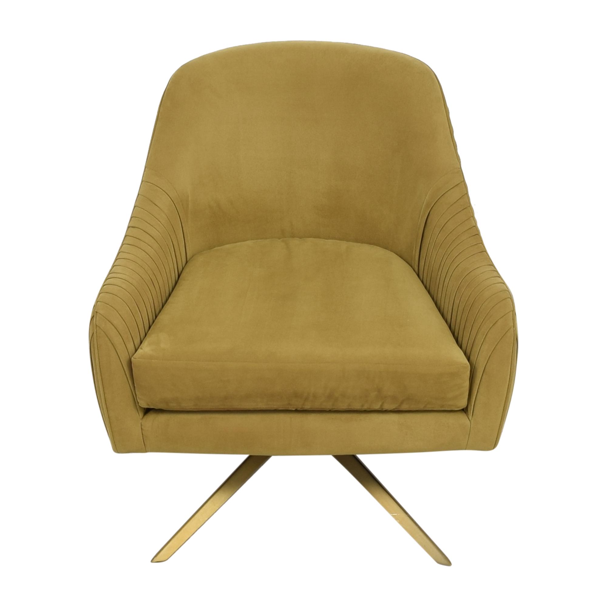 West Elm West Elm Roar & Rabbit Pleated Swivel Chair ct