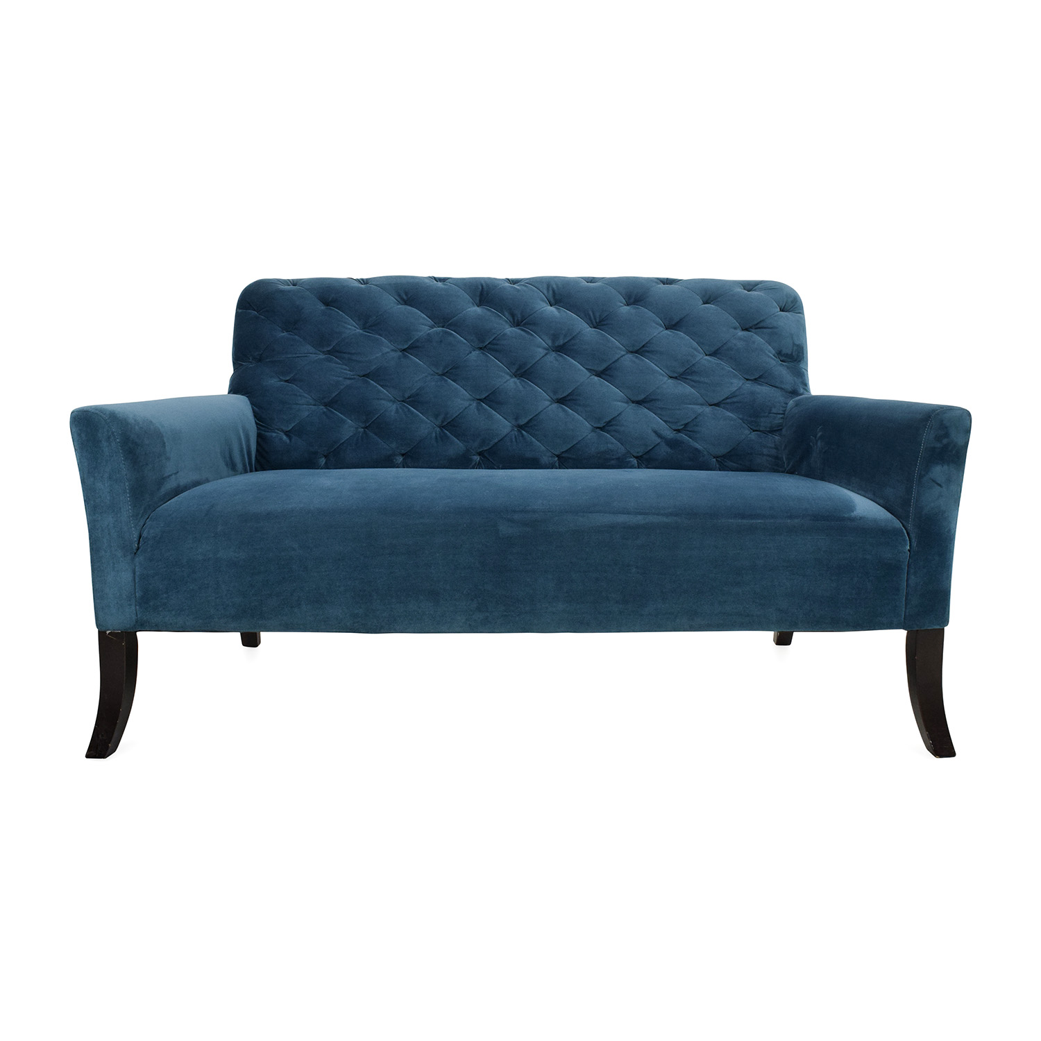 West Elm Elton Settee Sofa On