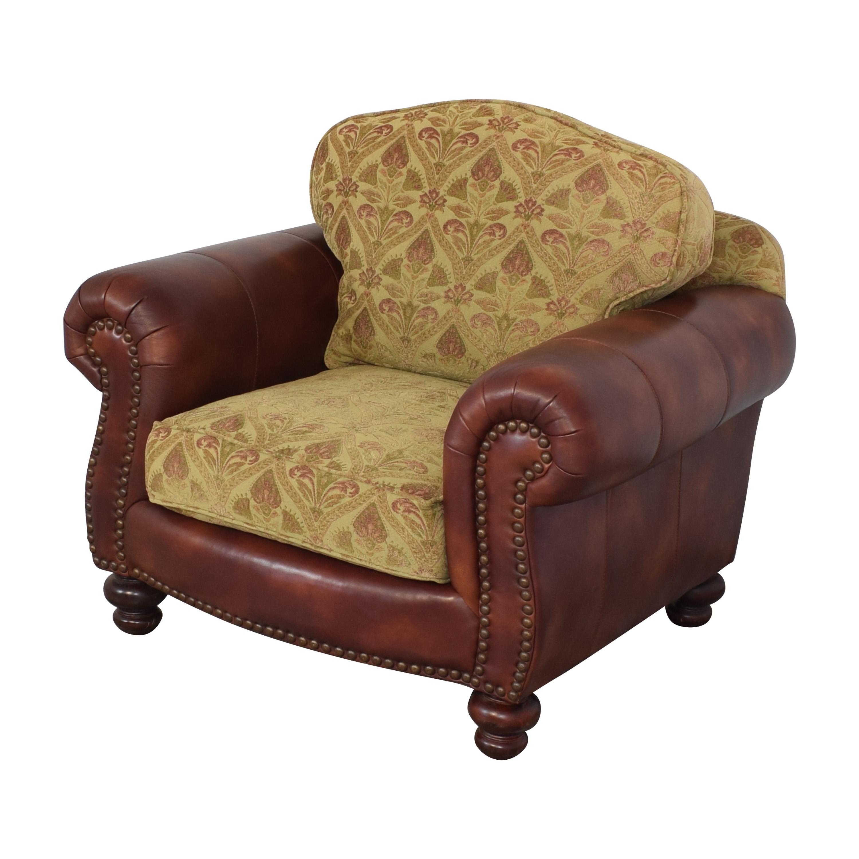 buy Distinctions Furniture Nailhead Club Chair with Cushions Distinctions Furniture Accent Chairs