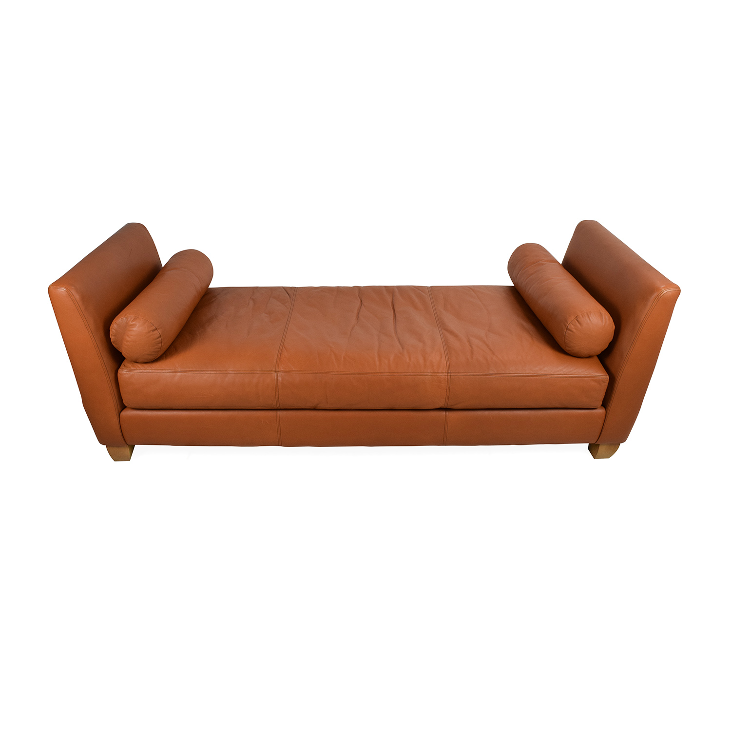 Conrad Conrad Orange Leather Daybed nyc