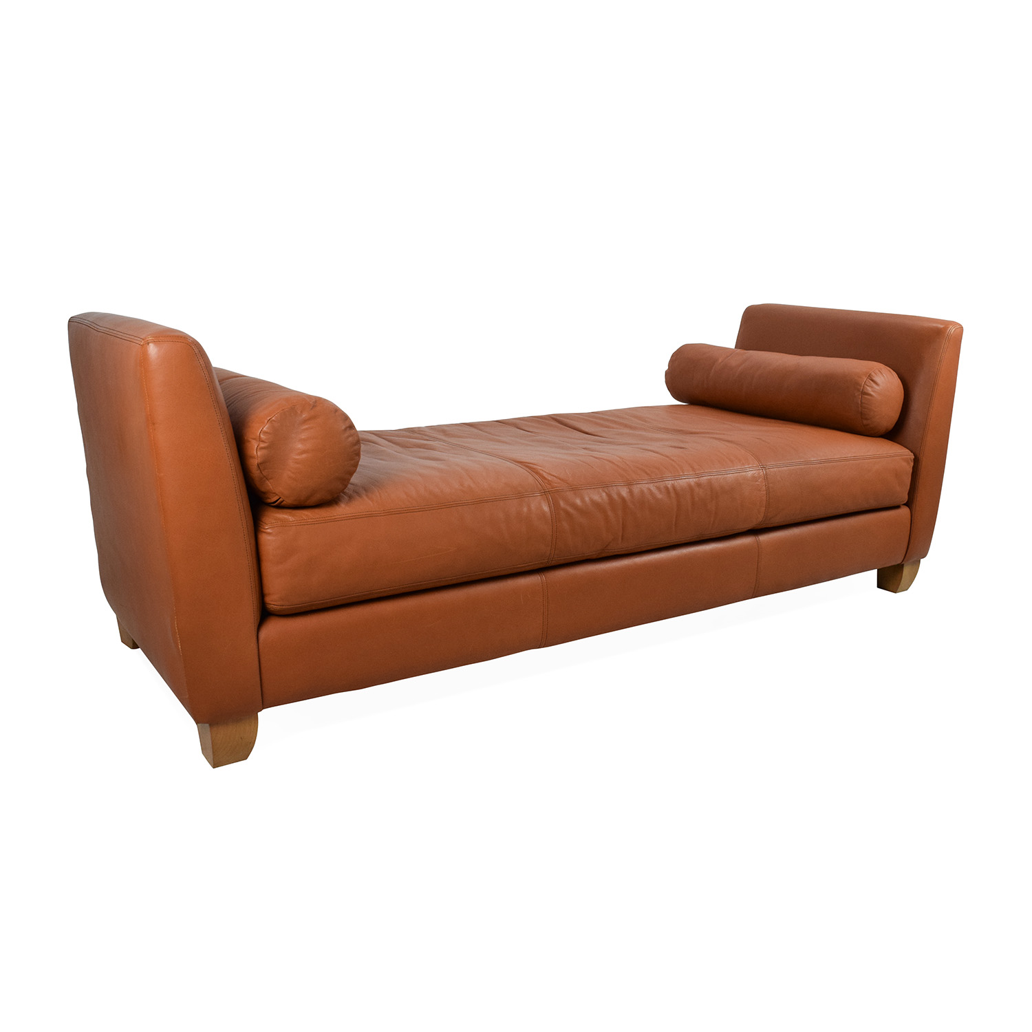 88 Off The Conran Shop Conrad Orange Leather Daybed Sofas