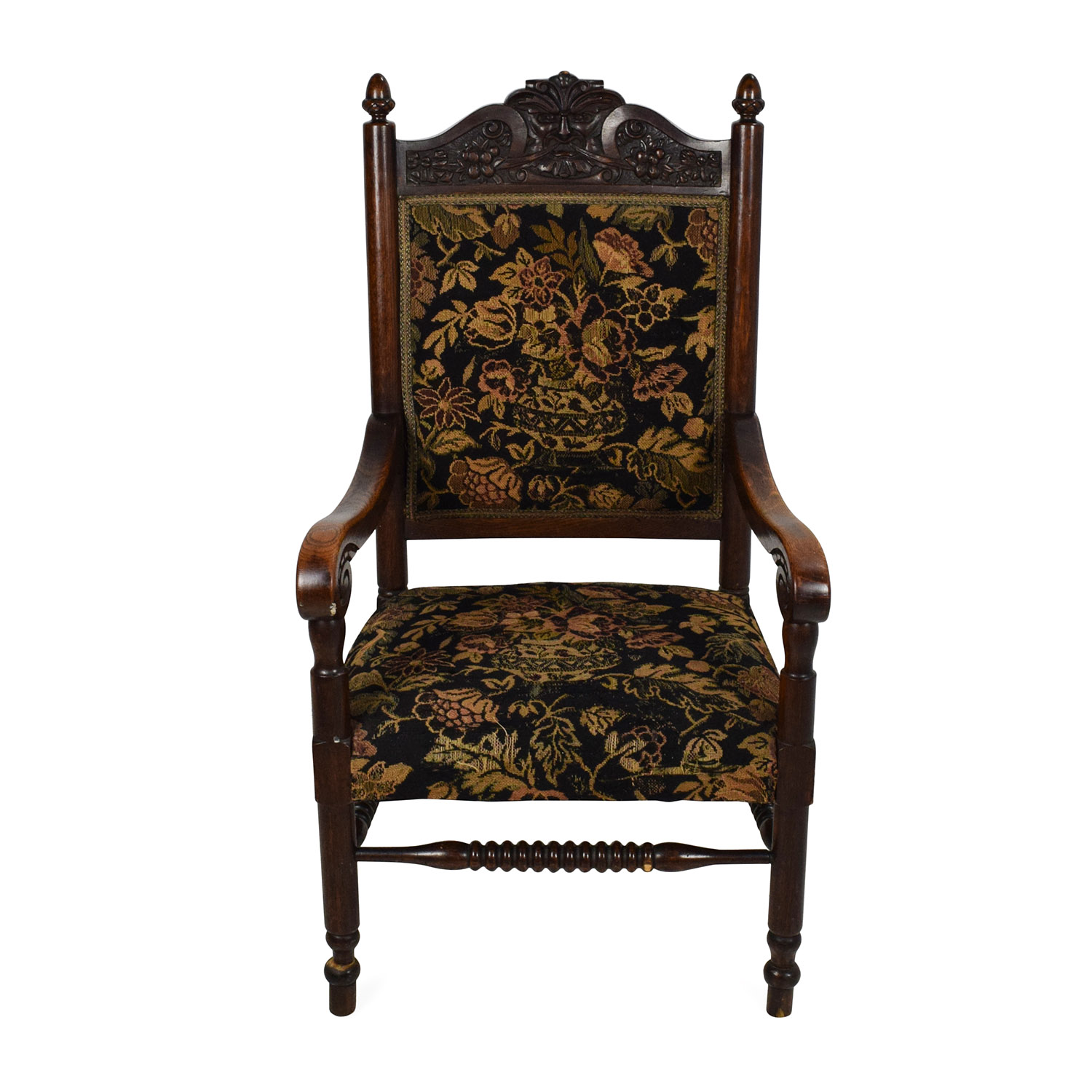 buy Antique Tudor Upholstered Chair Accent Chairs