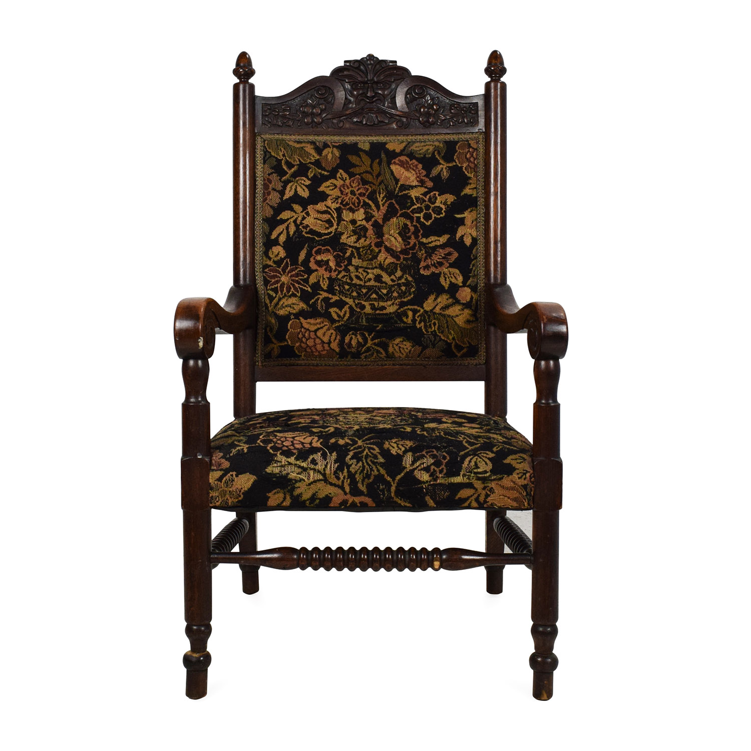 Antique Tudor Upholstered Chair price ... - 84% OFF - Antique Tudor Upholstered Chair / Chairs
