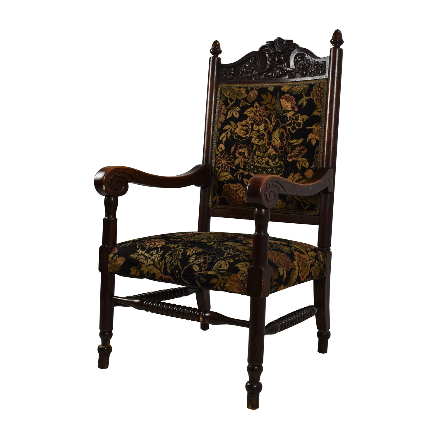 Buy Vintage Furniture: Antique Tudor Upholstered Chair / Chairs