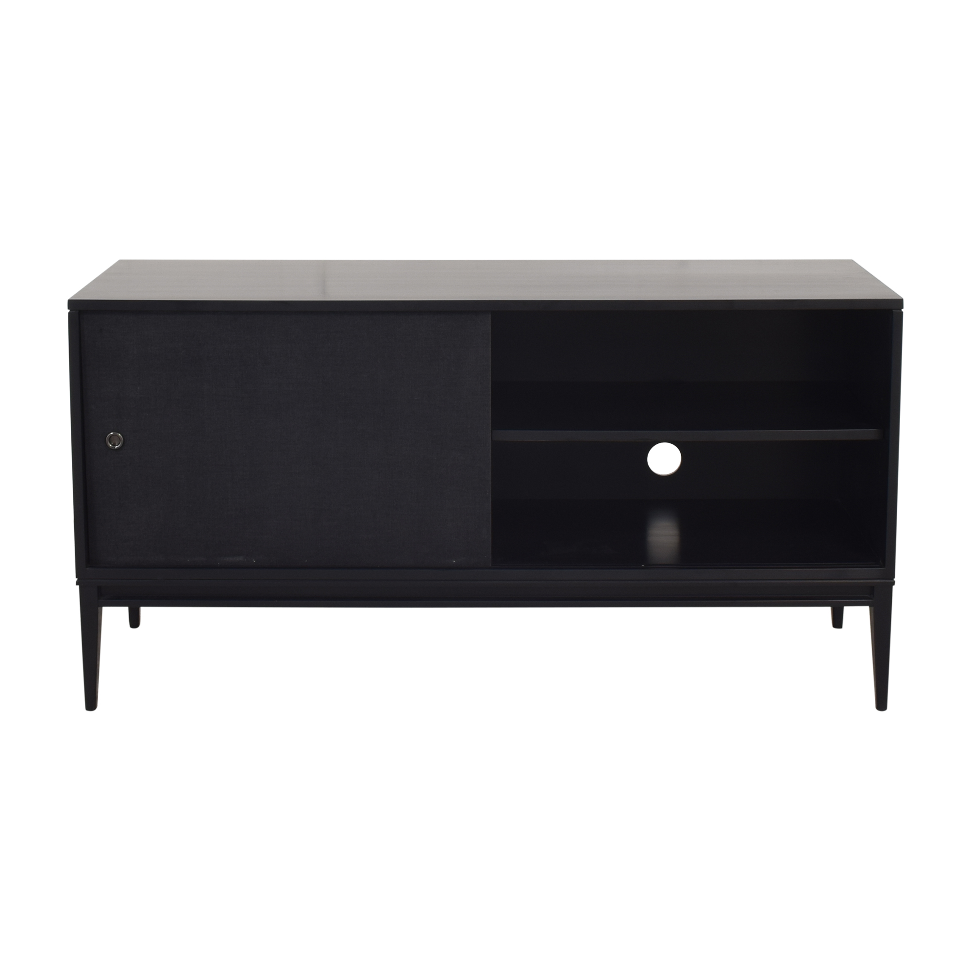 Bishop Lacquered Linen Door Media Console ma