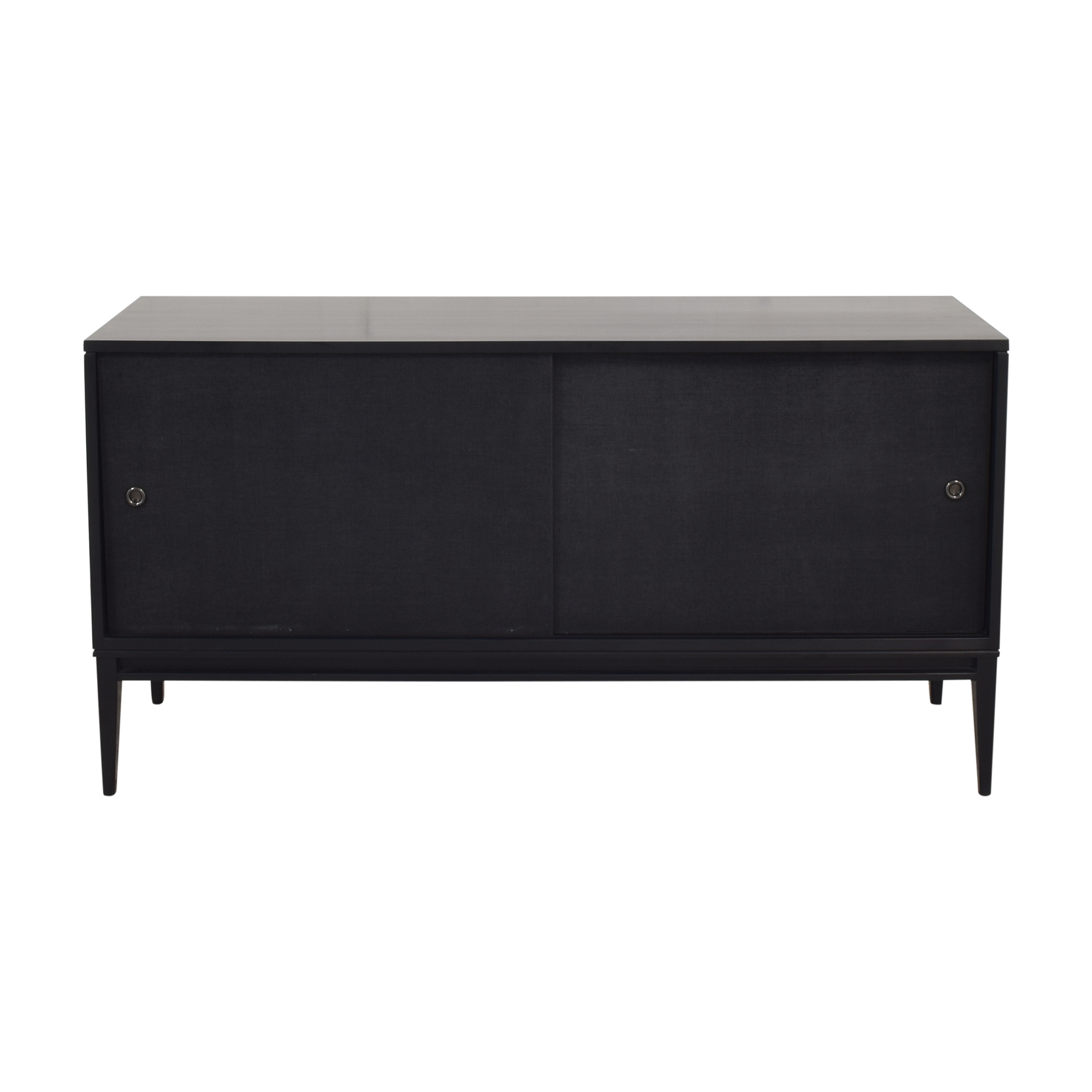 Bishop Lacquered Linen Door Media Console / Storage
