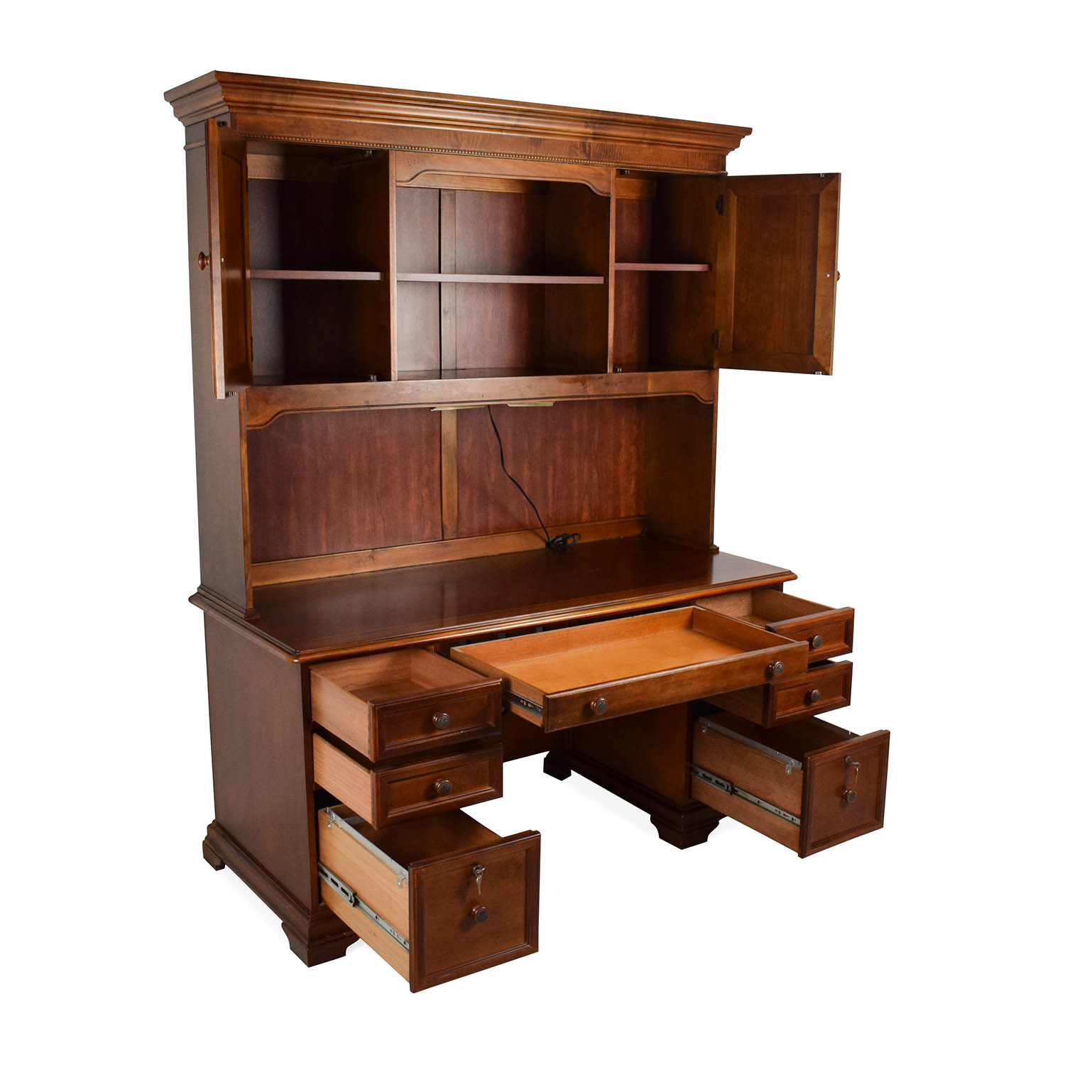 79 Off Hammary Furniture Hammary Furniture Wooden Desk With Hutch Tables