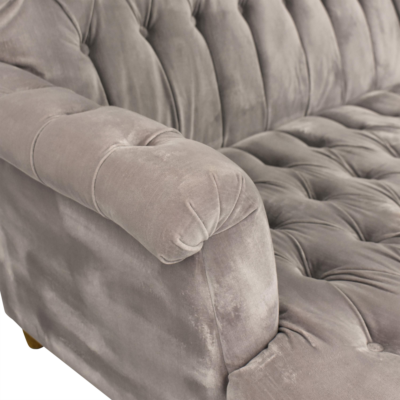 Restoration Hardware Restoration Hardware Tufted Sofa with Ottomans nyc