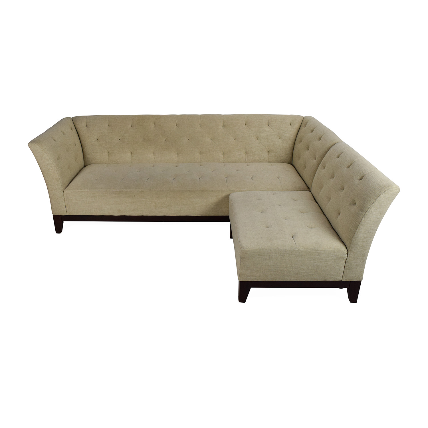 shop Macys Tufted Sofa With Modular Chaise Macys Sectionals