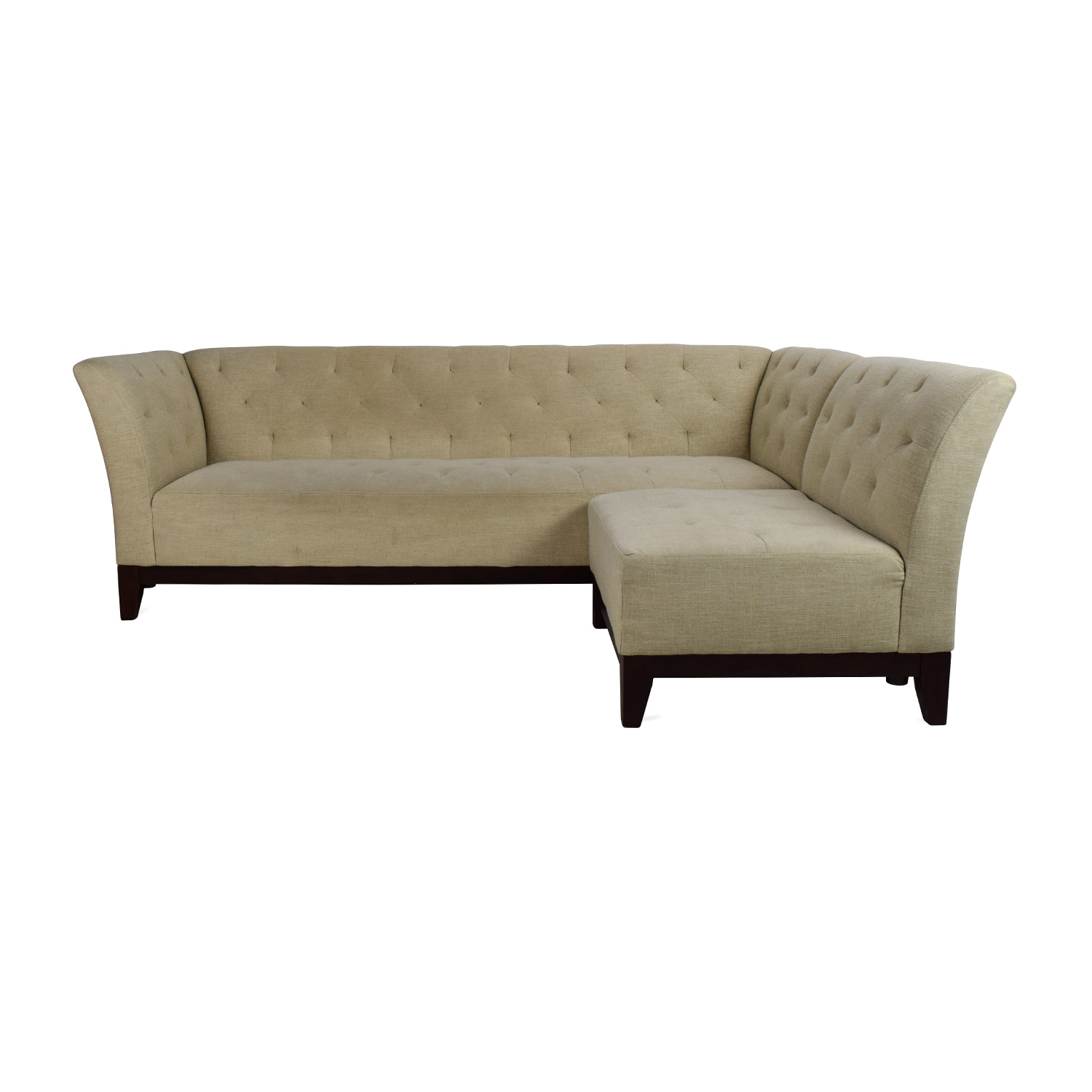 Macys Tufted Sofa With Modular Chaise / Sectionals