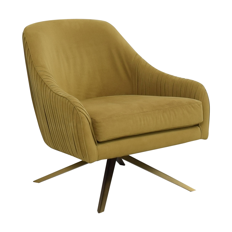 West Elm West Elm Roar & Rabbit Pleated Swivel Chair dimensions